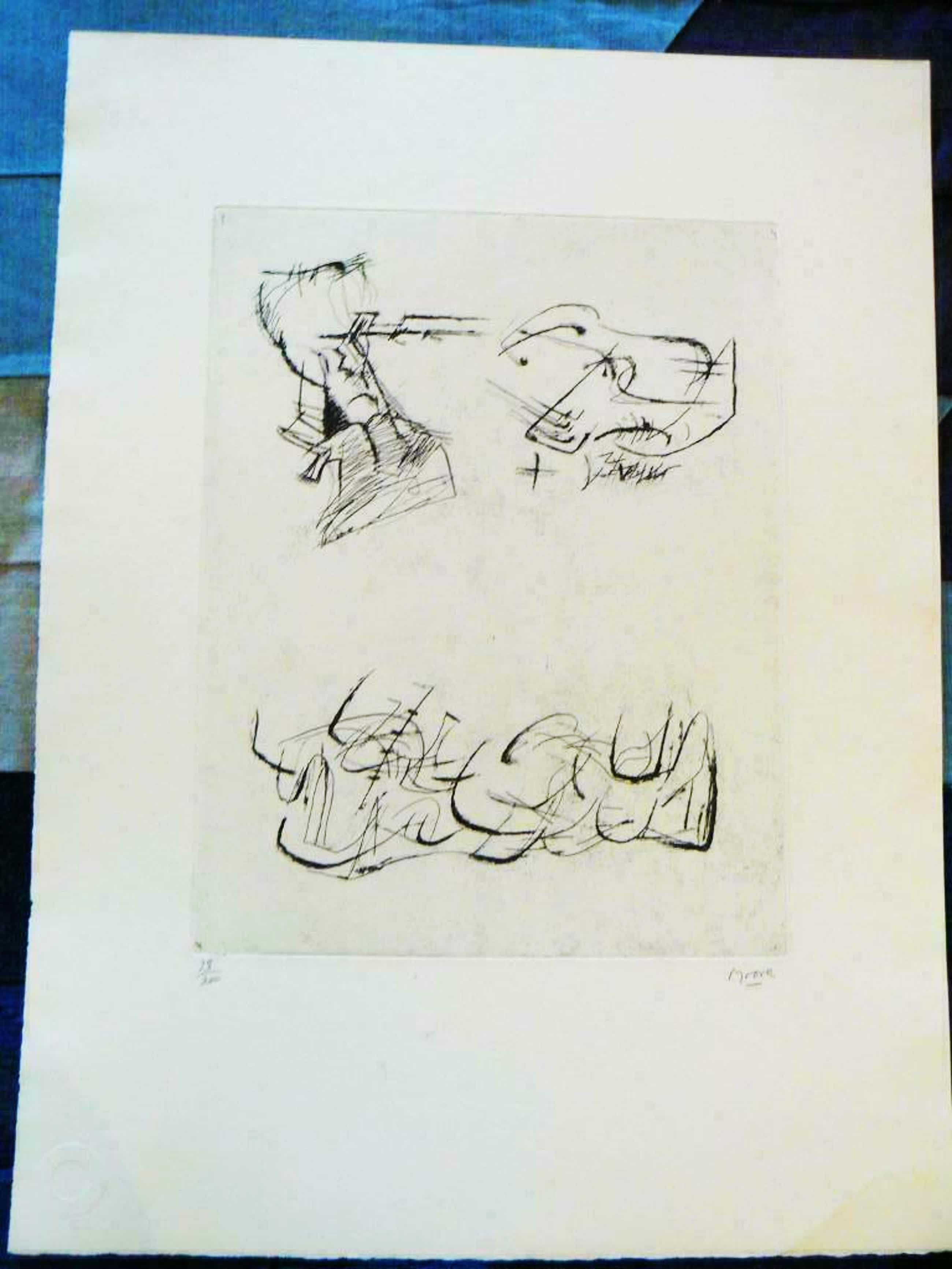 Henry Moore - zonder titel kopen? Bied vanaf 395!