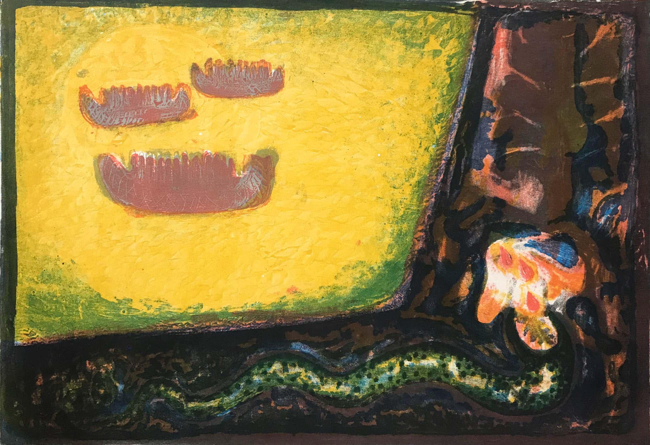 Reidar Magnus - Originele kleurenlitho - 1954 - Gesigneerd - 3/8 kopen? Bied vanaf 65!