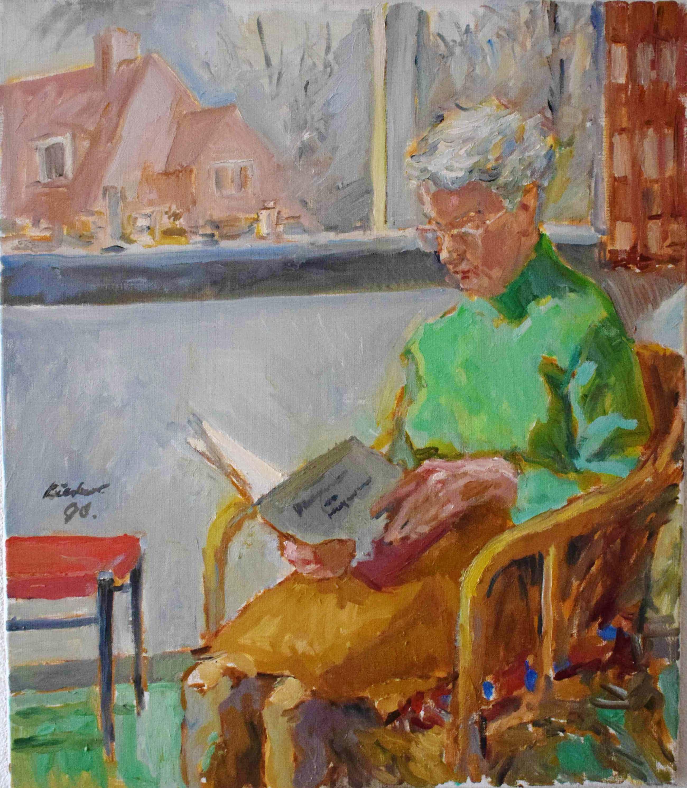 Joop Liesker - Lezende dame bij het raam kopen? Bied vanaf 250!