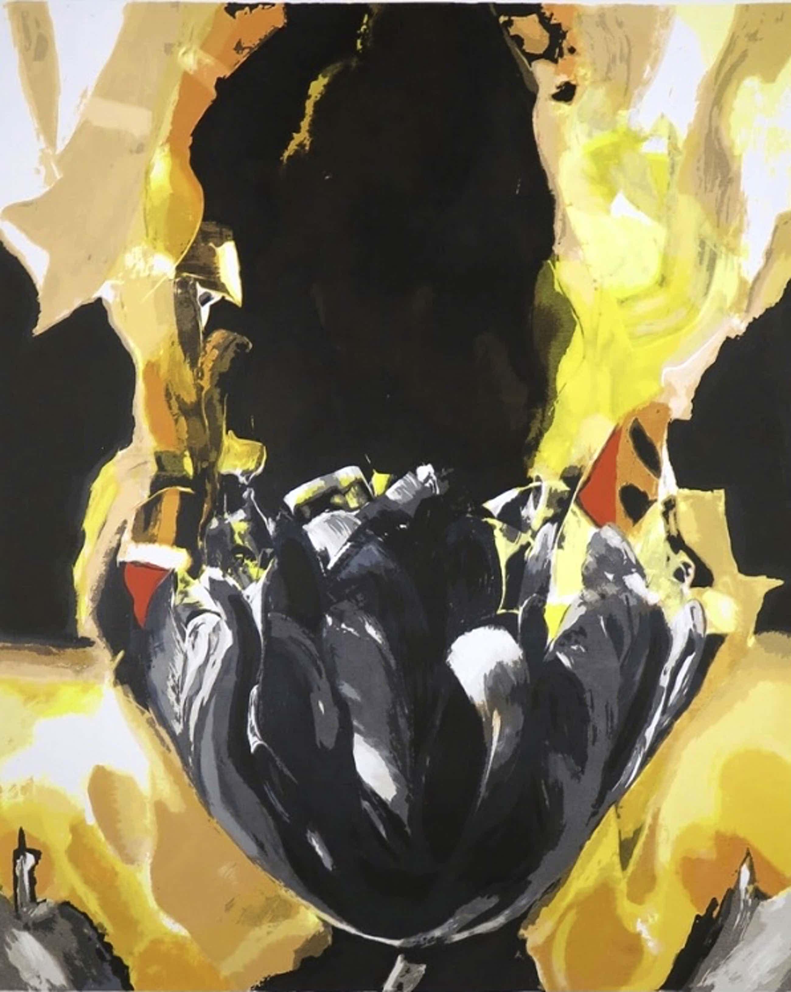 Anita Duijf - Zwarte Tulp - zeefdruk kopen? Bied vanaf 1!