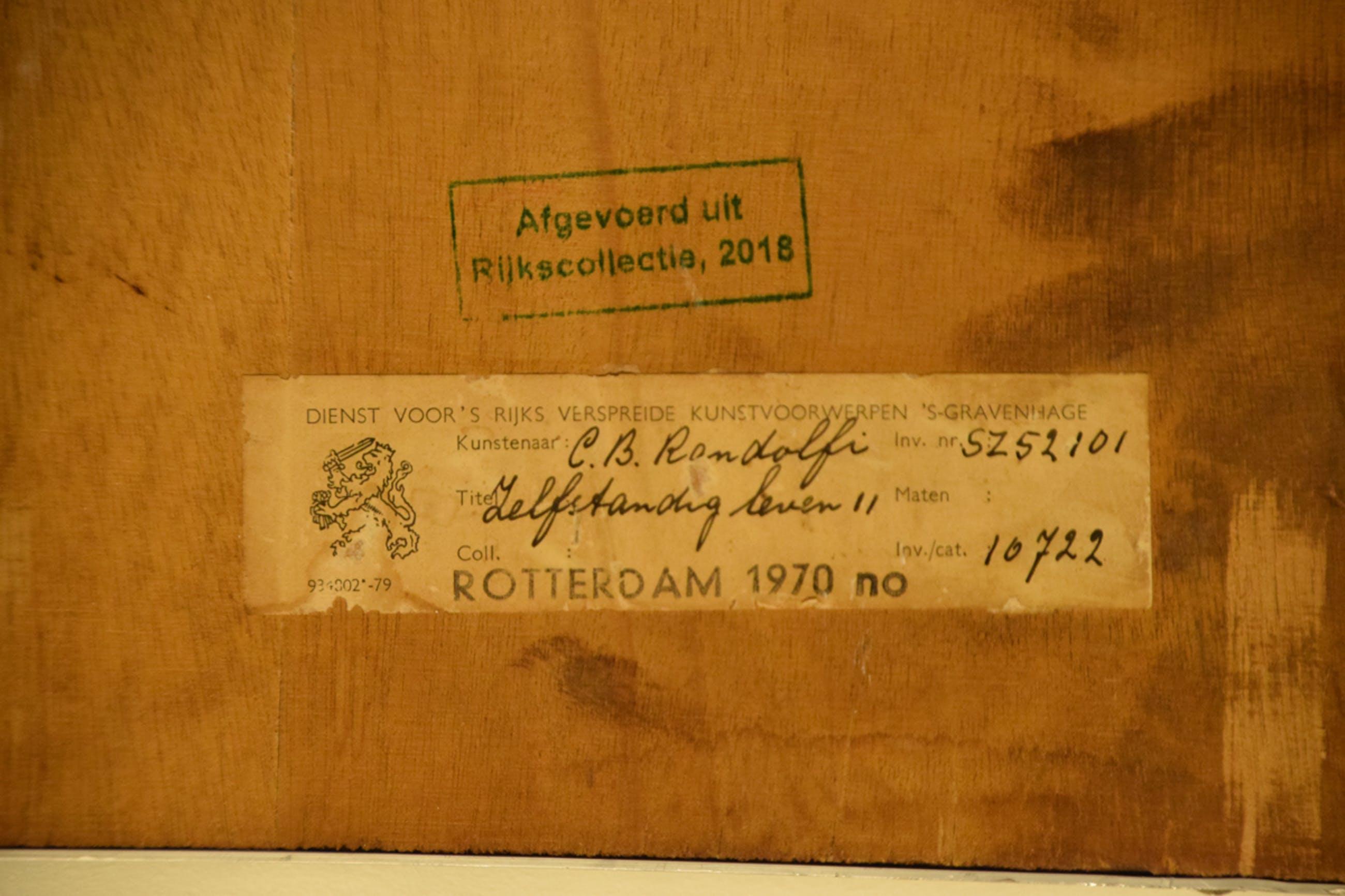 Benno Randolfi - Zelfstandig leven, 2/9, 1970 - Ets op papier - BKR Rotterdam kopen? Bied vanaf 20!