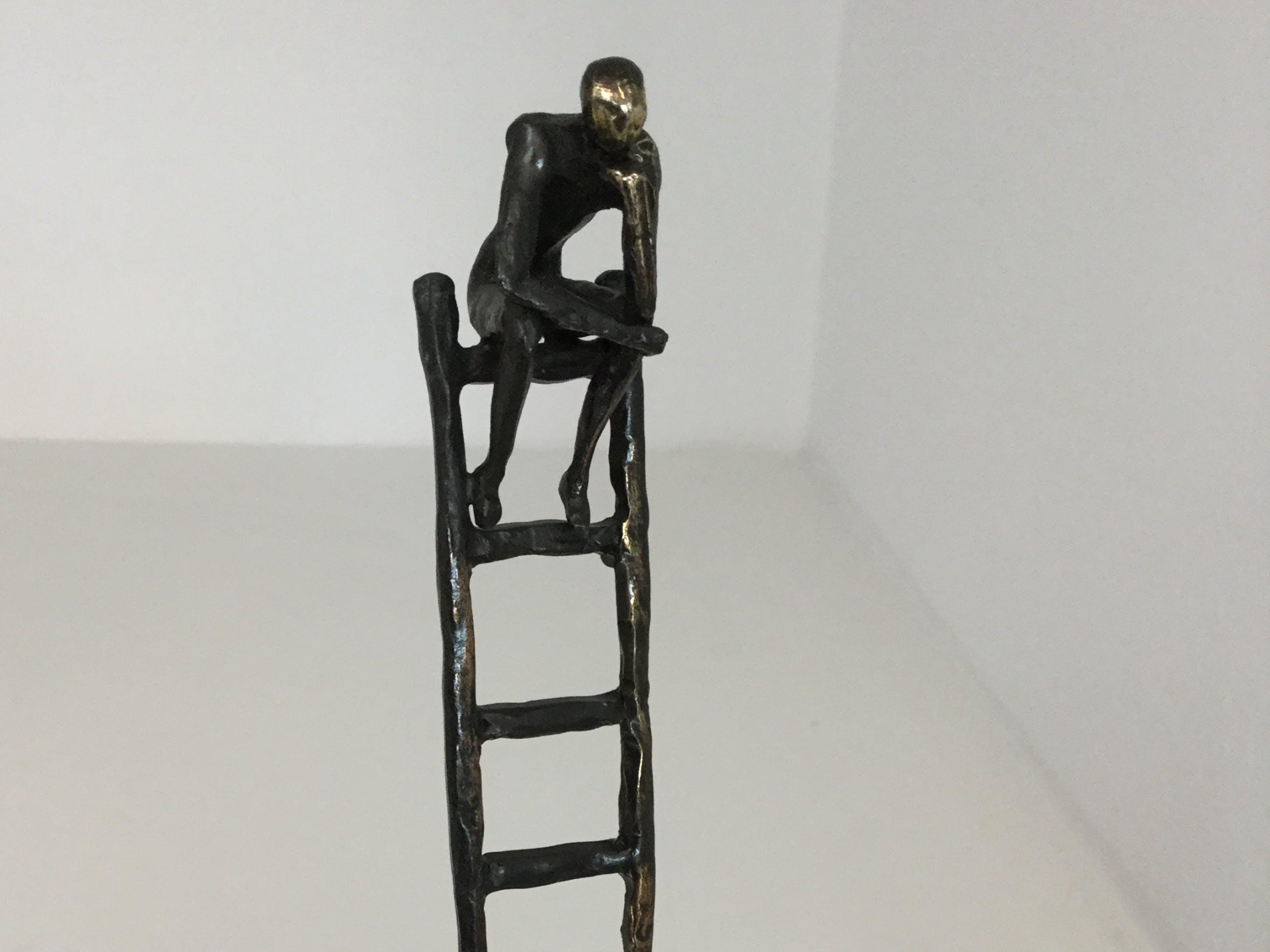 """Corry Ammerlaan - Sculptuur """" De denkende mens """" kopen? Bied vanaf 50!"""
