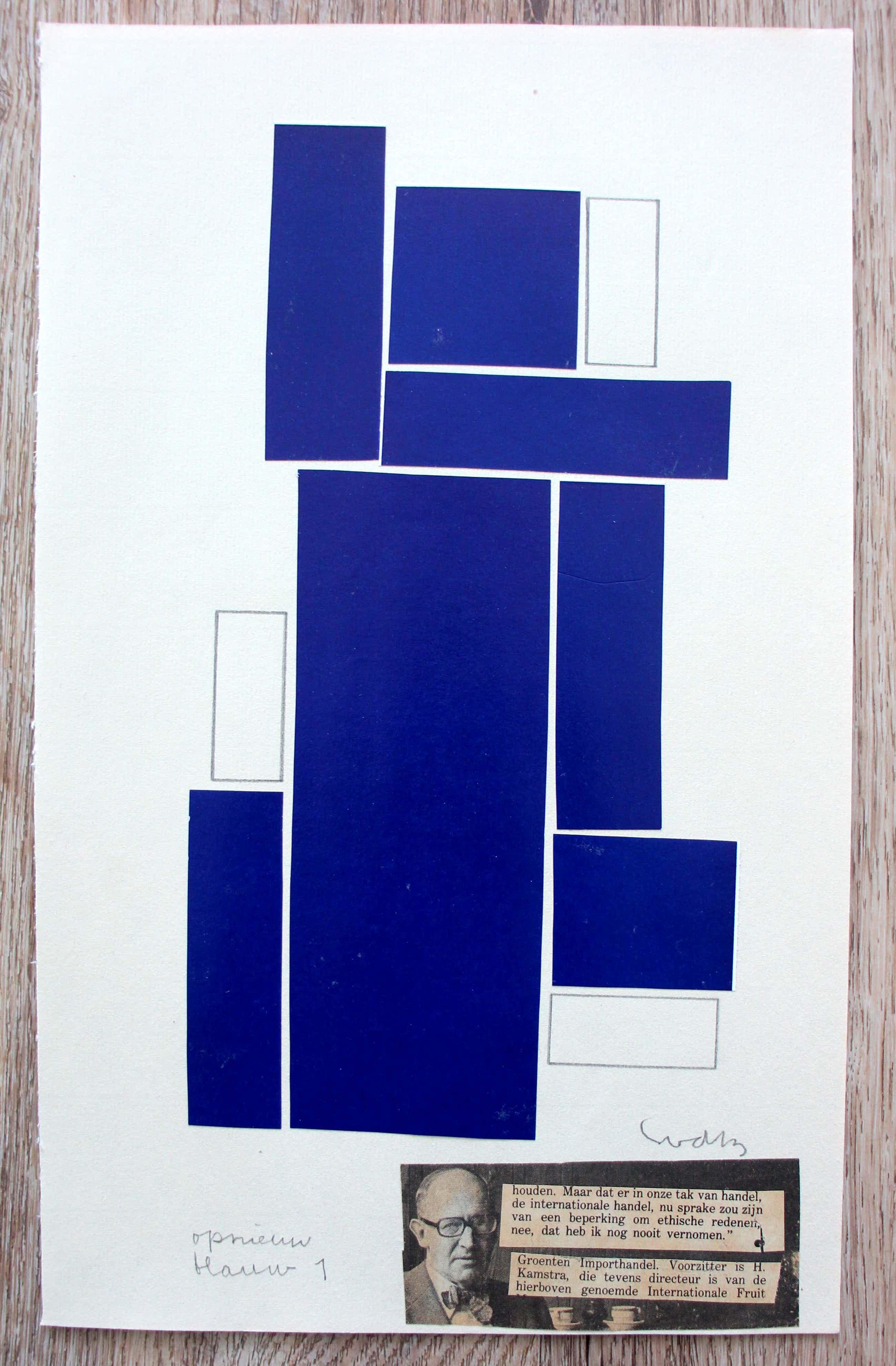 Siep van den Berg - collage/potloodtekening - 1977- gesigneerd kopen? Bied vanaf 95!