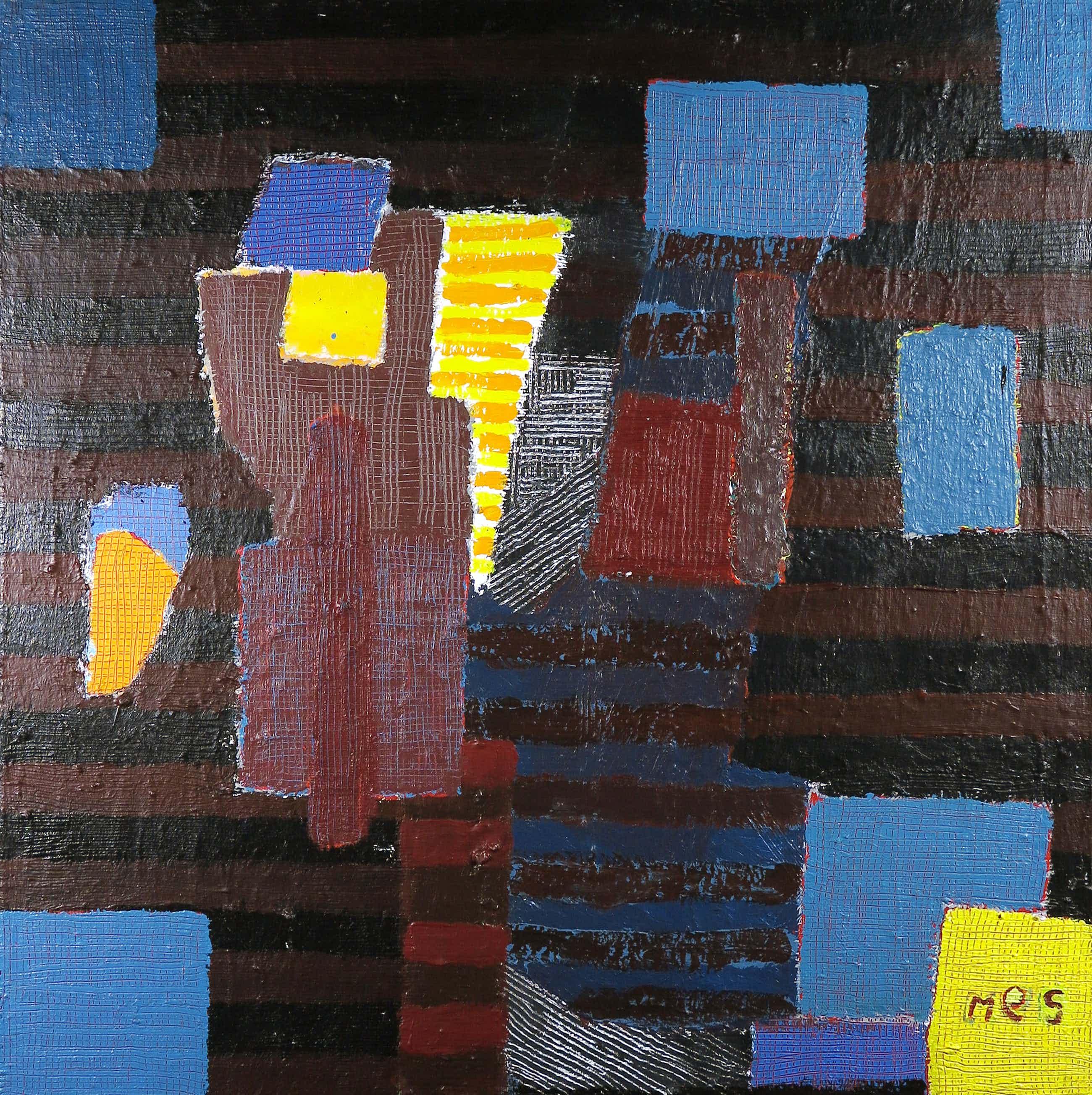 Anna Mes - Olieverf op doek, Z.T. Abstracte compositie kopen? Bied vanaf 505!