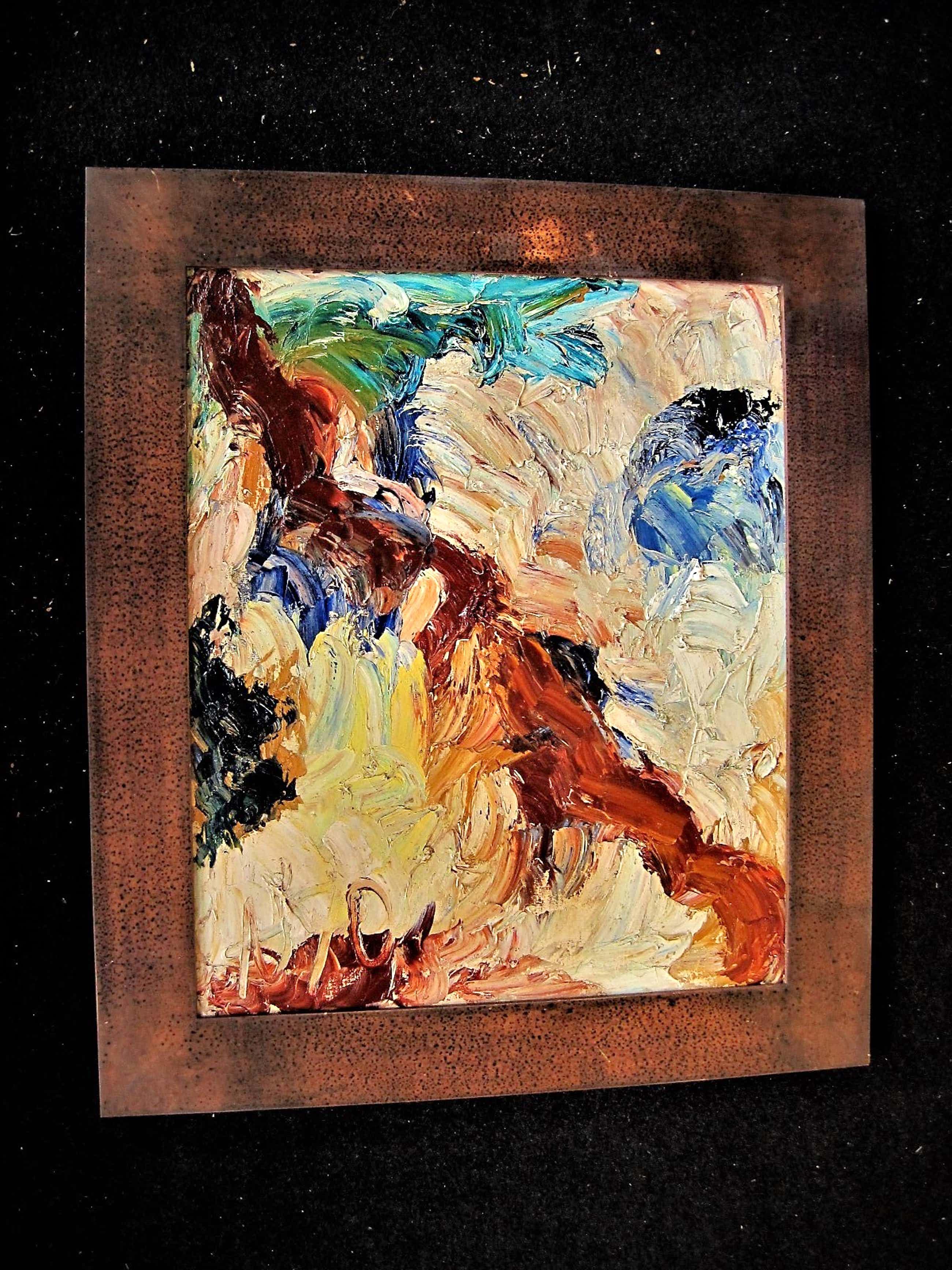 Arie van Selm - Internationaal gevierd Kunstenaar - pasteus geschilderd olieverf - 1970 kopen? Bied vanaf 200!