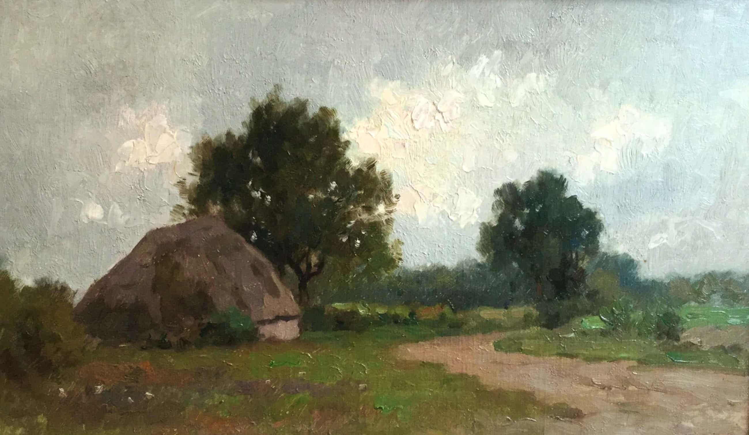 Aris Knikker - C4265-3, Polderlandschap met boerderij kopen? Bied vanaf 175!