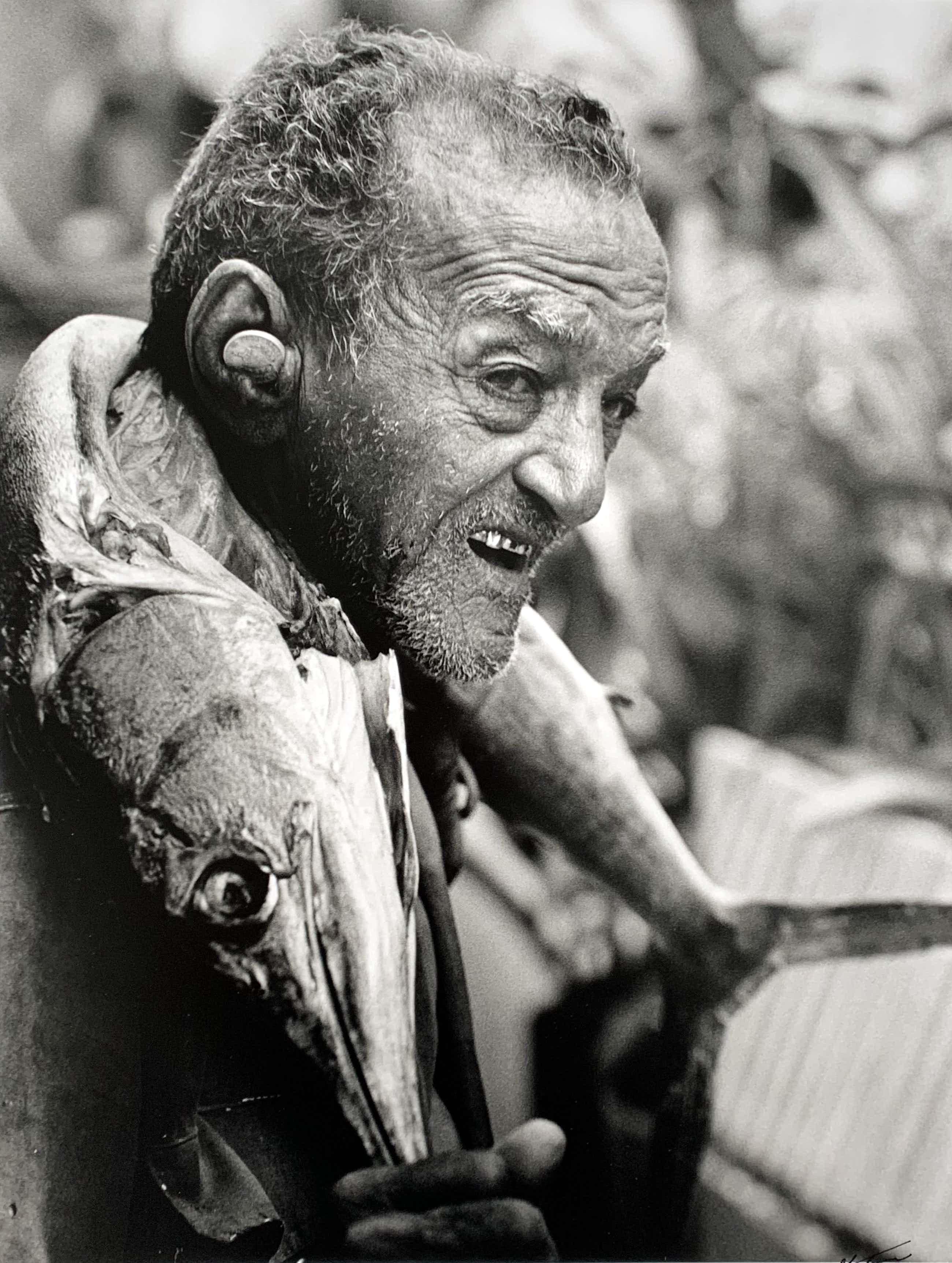 Nico Koster - handgesigneerde foto   'Cubaanse visser'   1999 kopen? Bied vanaf 70!