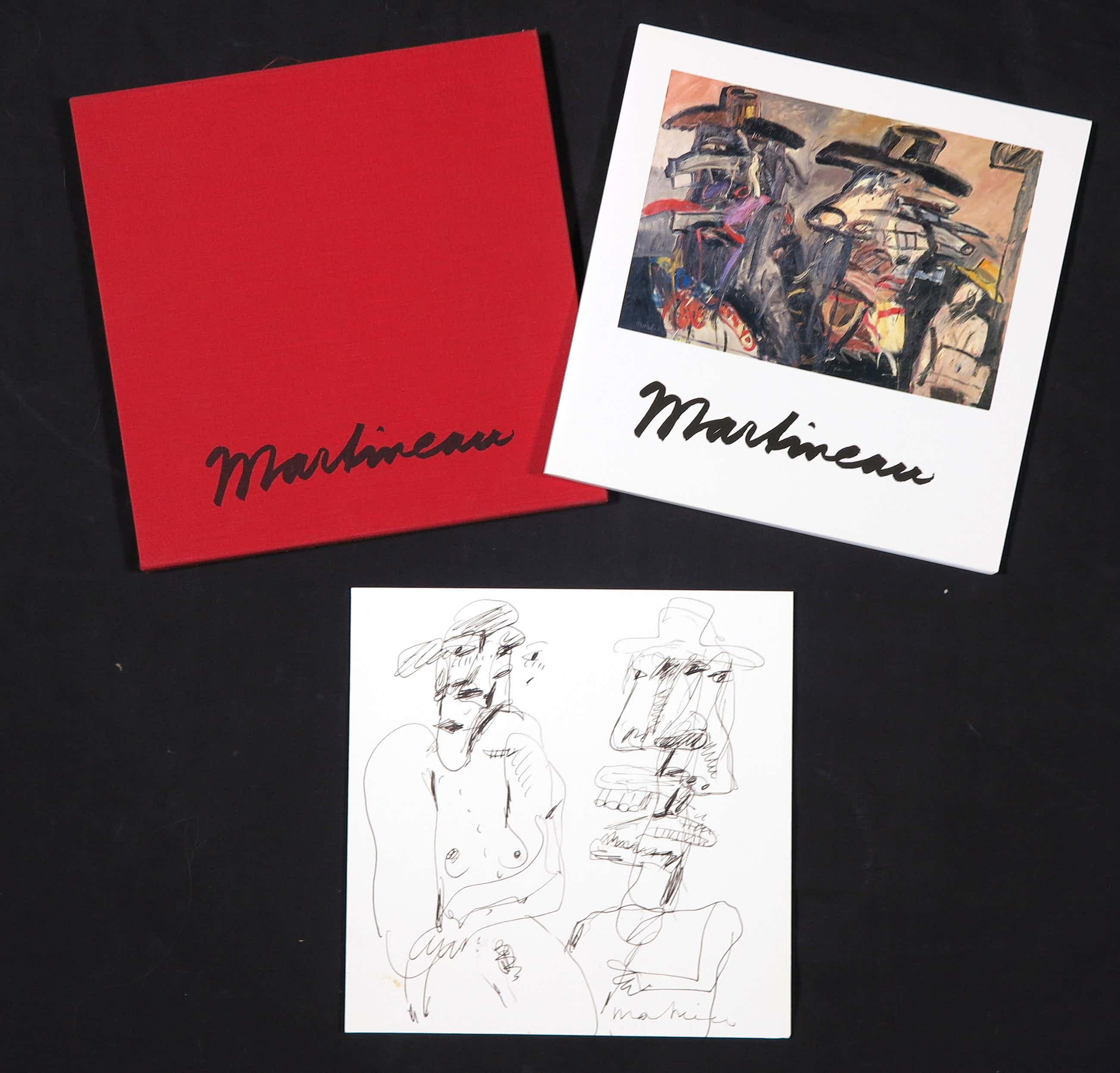 Anton Martineau - Pentekening + overzichtscatalogus in linnen cassette, Zonder titel kopen? Bied vanaf 45!