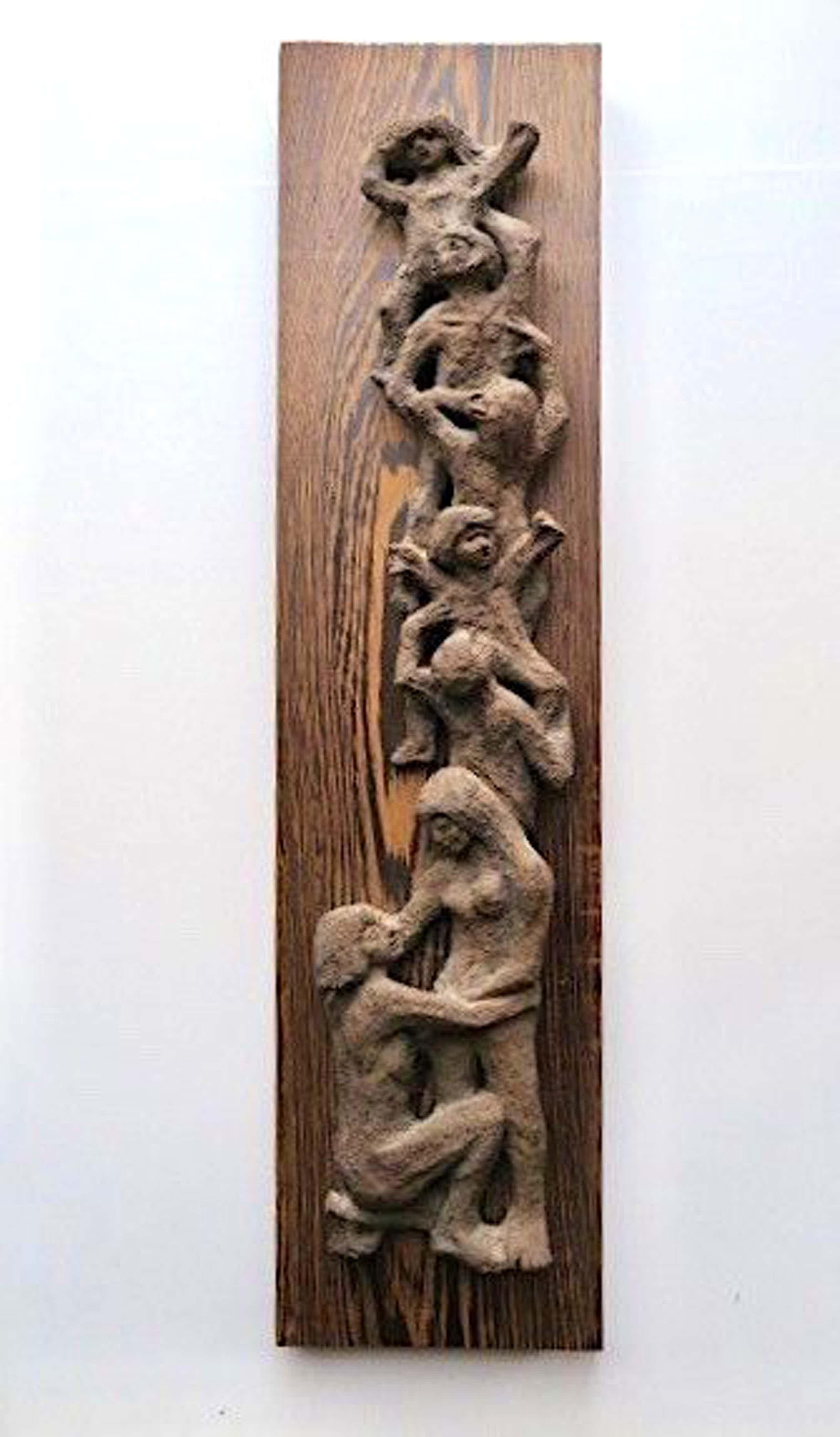 Klaas Pijlman - Familie - Sculpture van chamotteklei - Annotatie kunstenaar op achterzijde kopen? Bied vanaf 49!