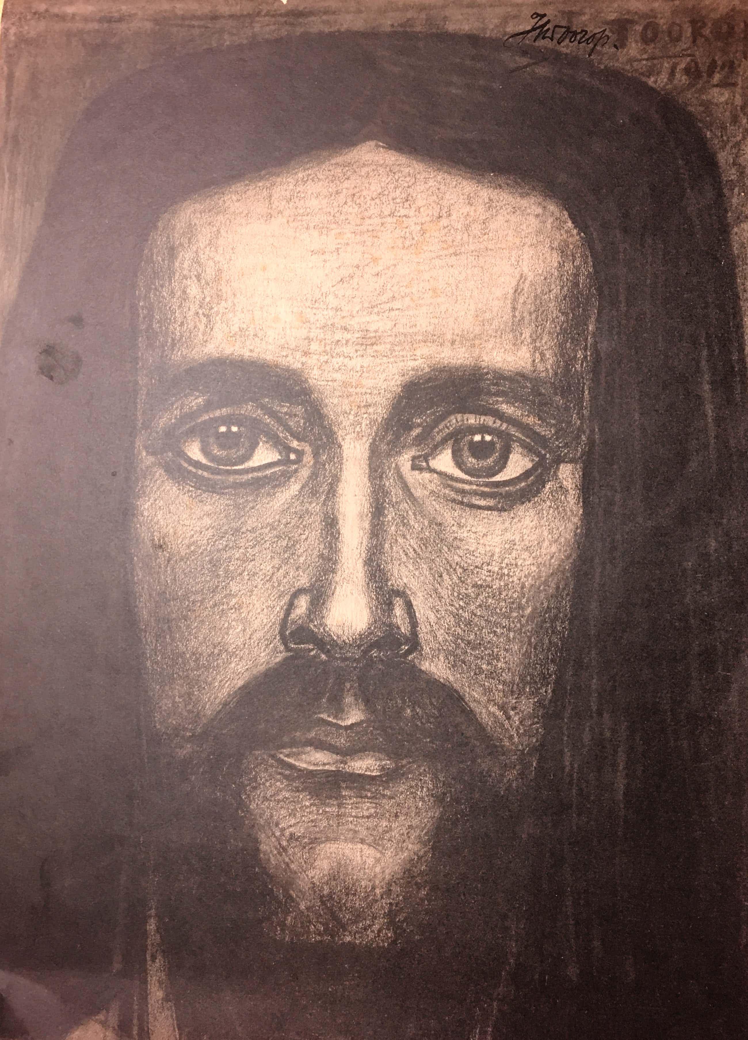 Jan Toorop - Portret kopen? Bied vanaf 85!