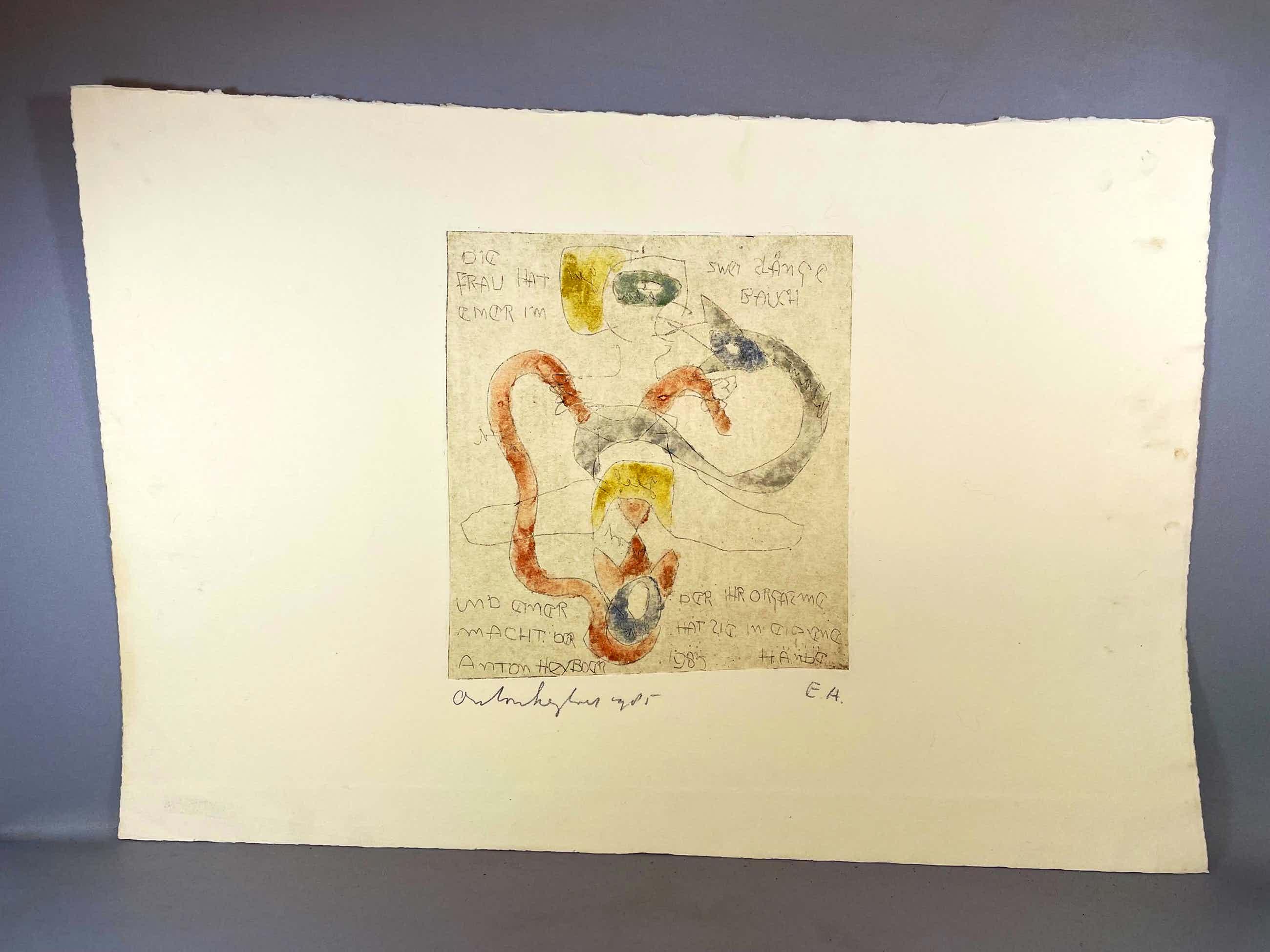 Anton Heyboer - Ets uit 1985 op Hahnemuhle papier kopen? Bied vanaf 125!