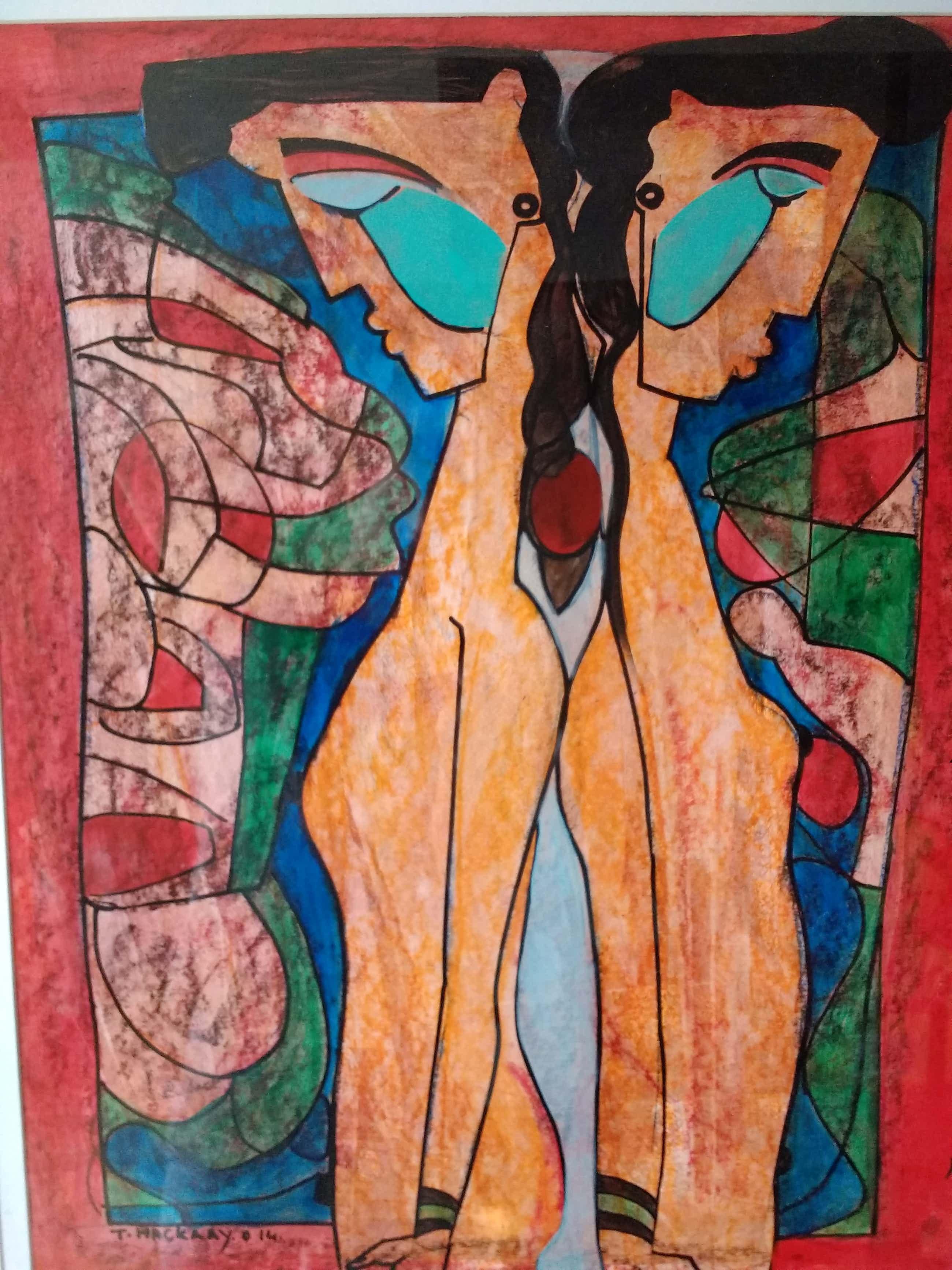 Theo Mackaay - groot schilderij, ingelijst, handgesigneerd en gedateerd kopen? Bied vanaf 350!