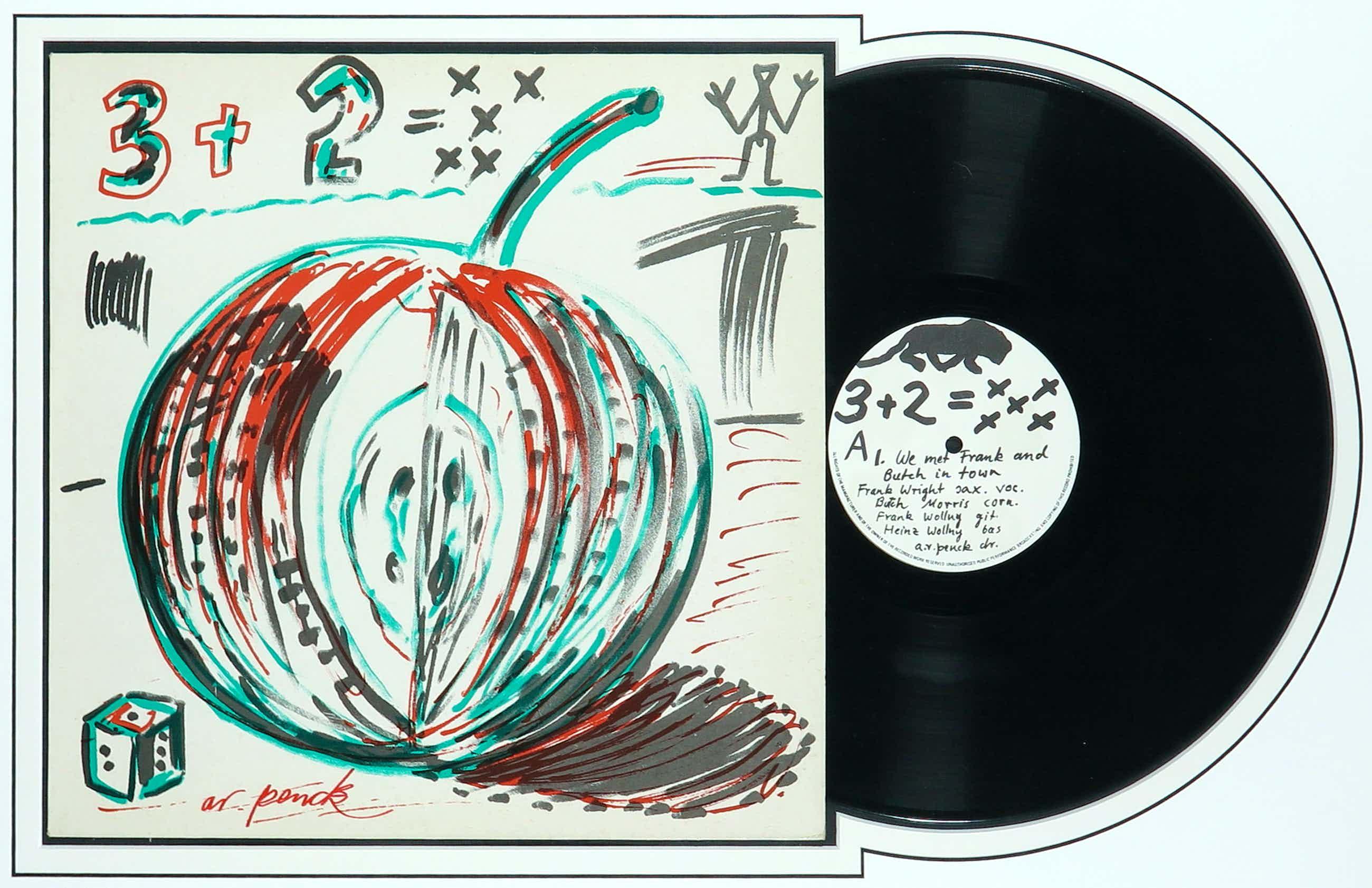 A.R. Penck - en TTT - Gesigneerd album 3+2 = XXX - Ingelijst kopen? Bied vanaf 162!
