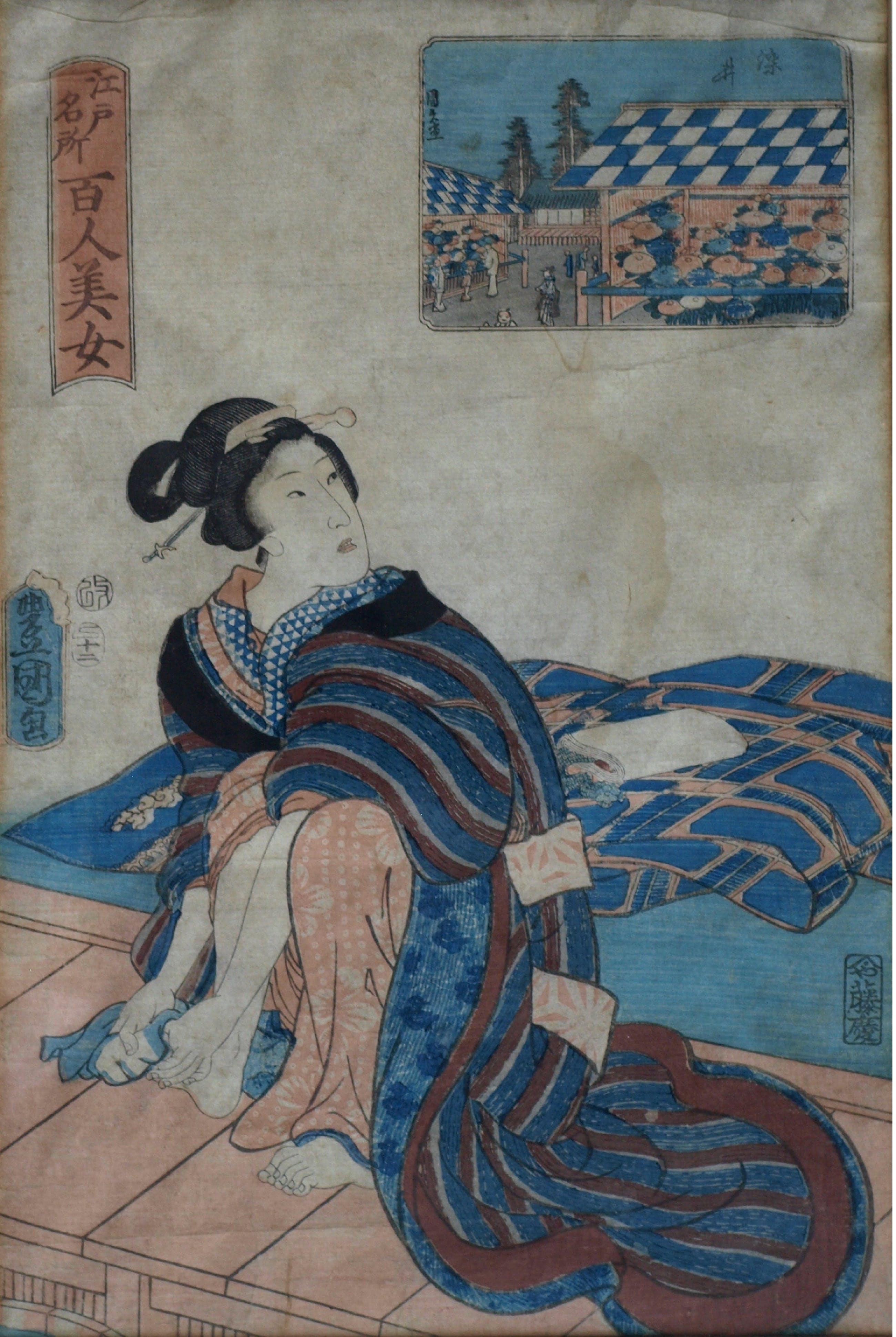 Een kunstenaar met haar voeten