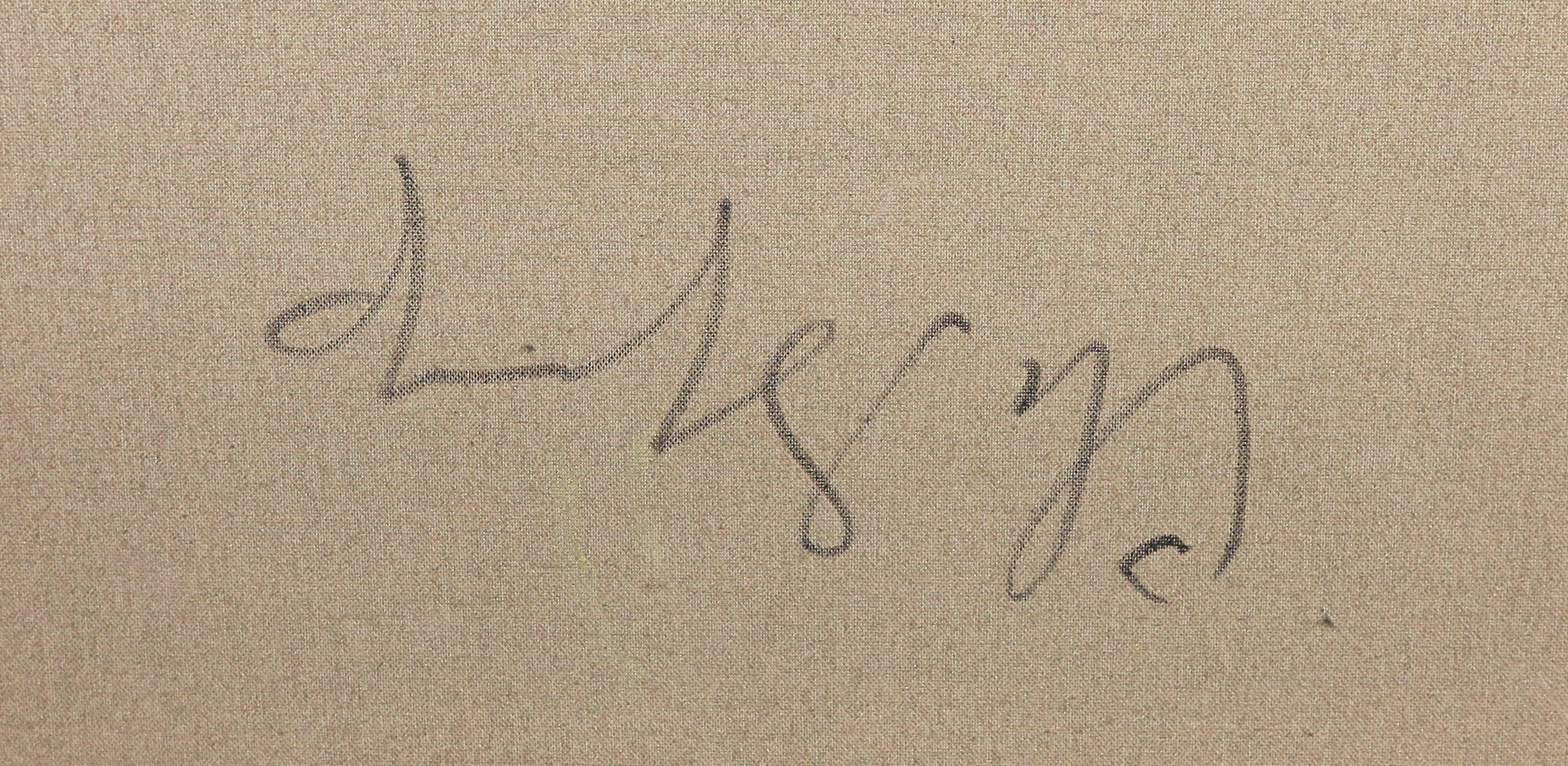 Christine Spierings - Olieverf op doek, Z.t. Abstracte vorm (Groot) kopen? Bied vanaf 1!