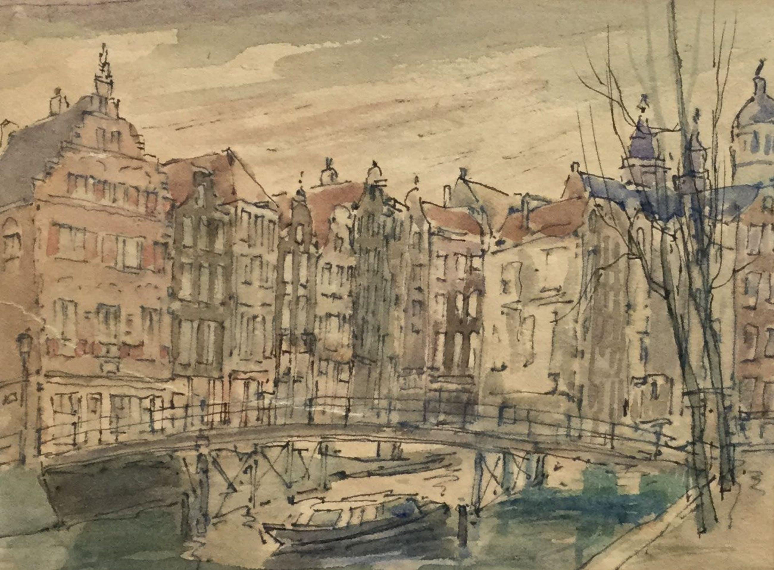 Willem Fekken - C4925-6, Aan de Amsterdamse gracht kopen? Bied vanaf 100!