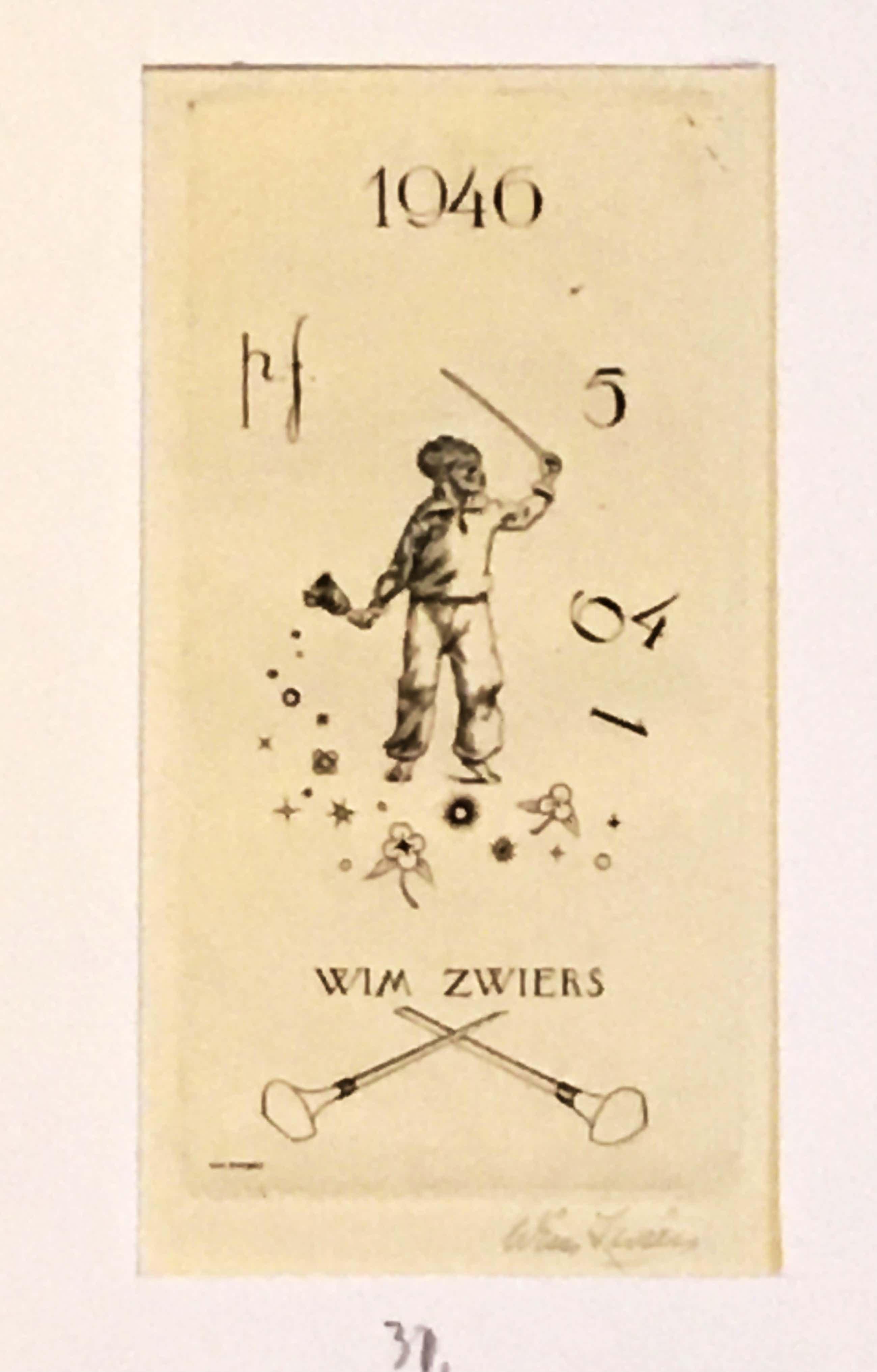 Wim Zwiers - Nieuwjaars en wenskaarten en diversen kopen? Bied vanaf 60!