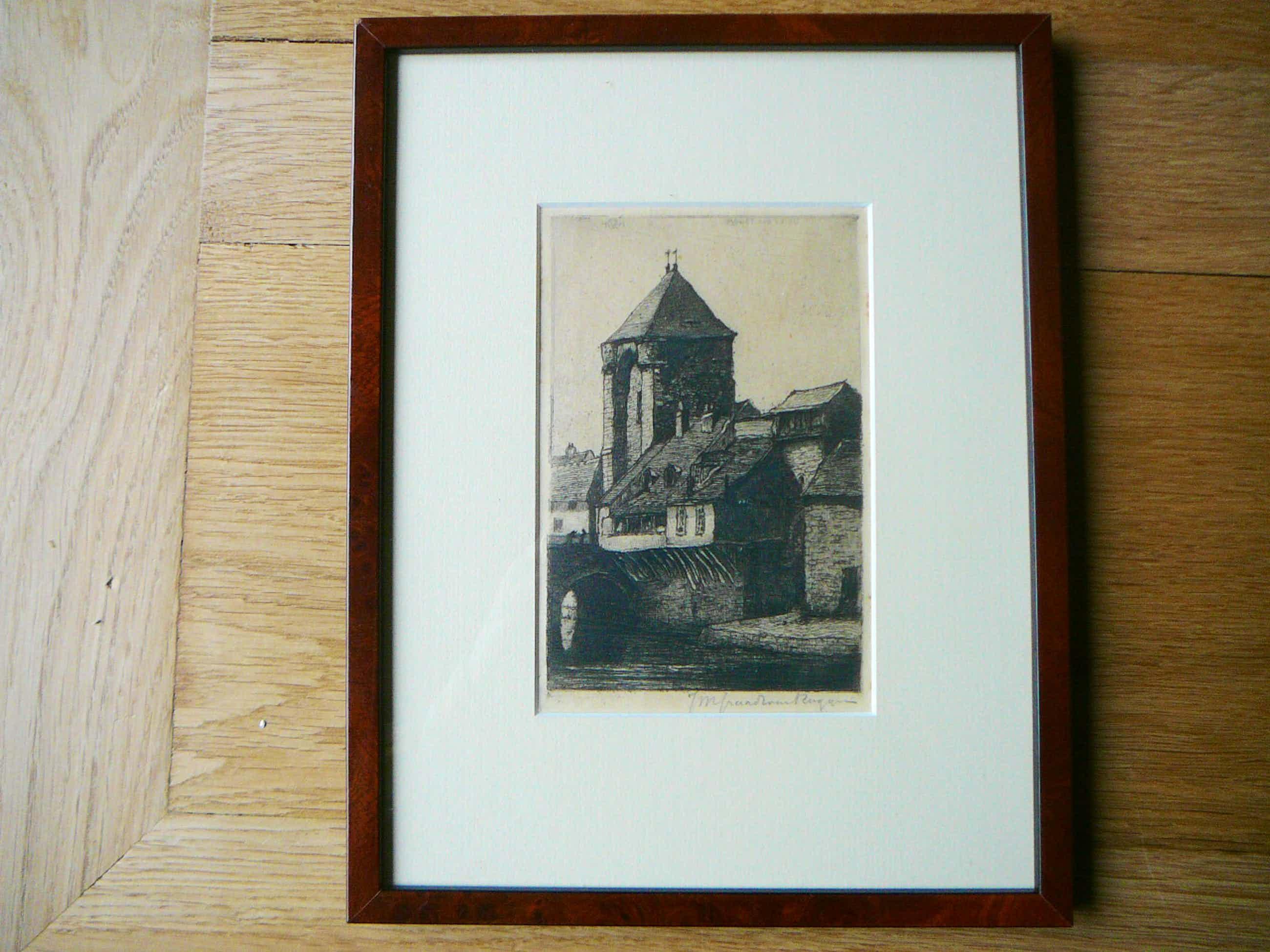 Johannes Graadt van Roggen - ets Porte du Pont te Moret-sur-Loing kopen? Bied vanaf 65!