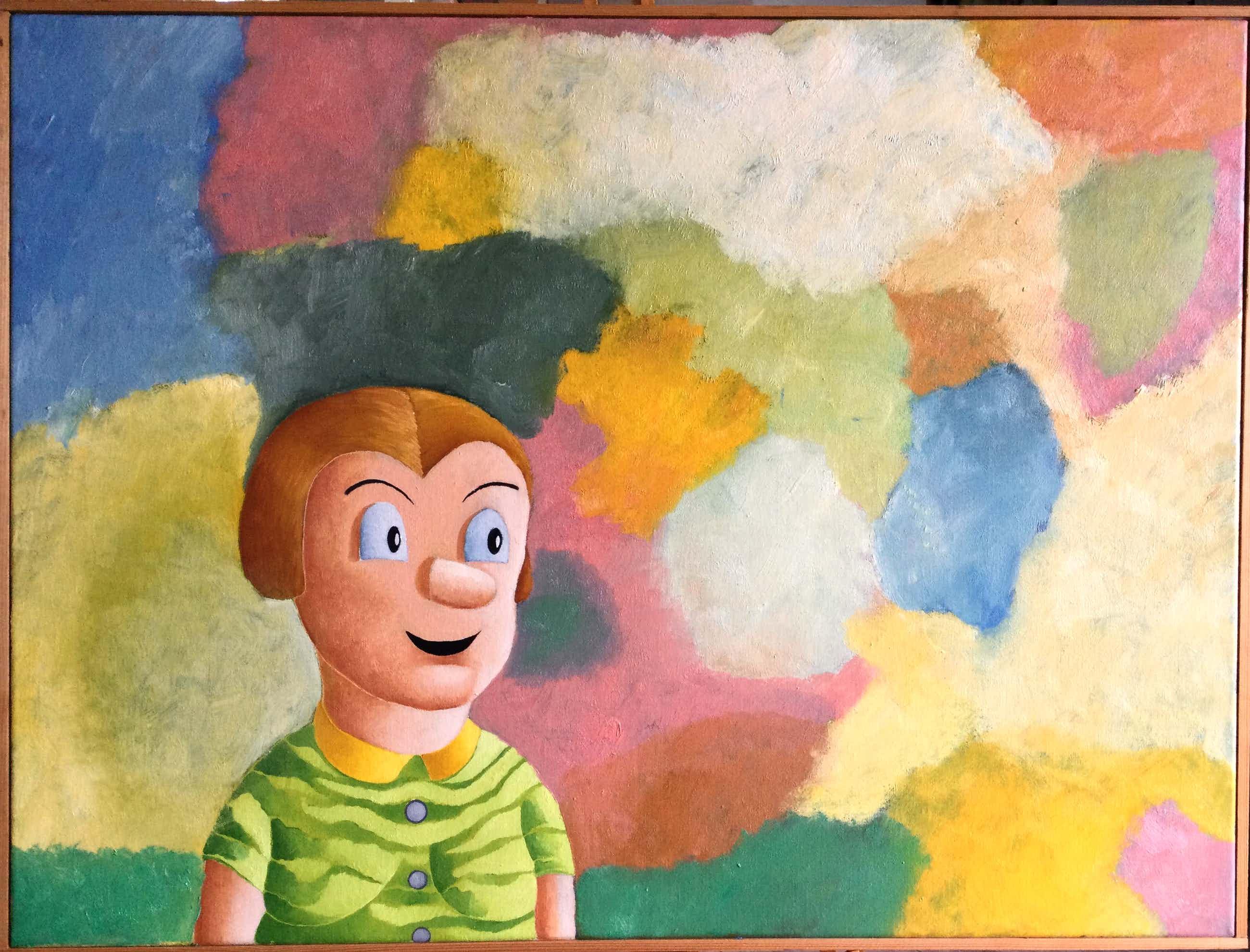 Dirk Bakker - olieverfschilderij   zonder titel kopen? Bied vanaf 65!