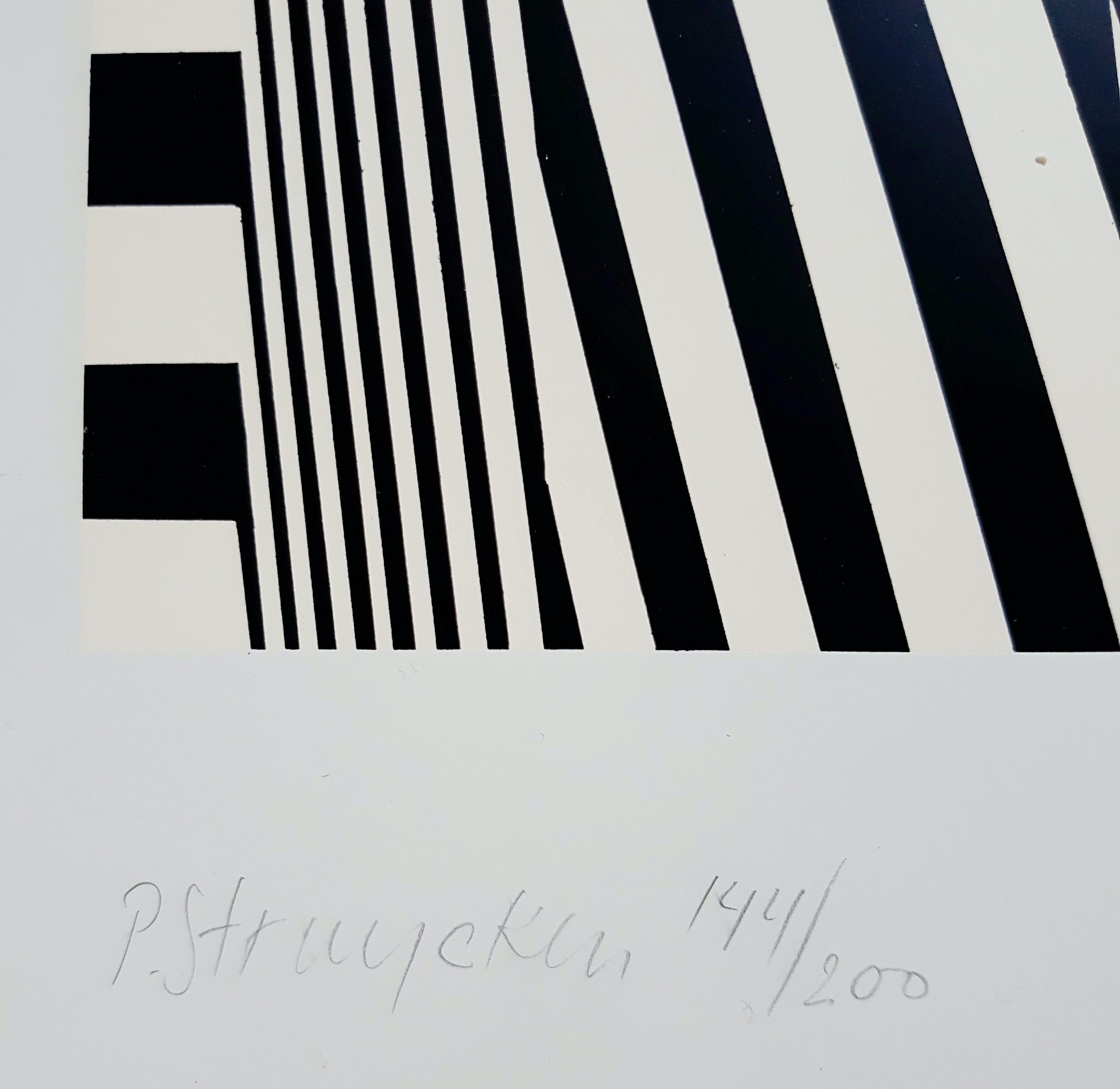 Peter Struycken - Geometrisch abstract (1966), zeefdruk kopen? Bied vanaf 225!