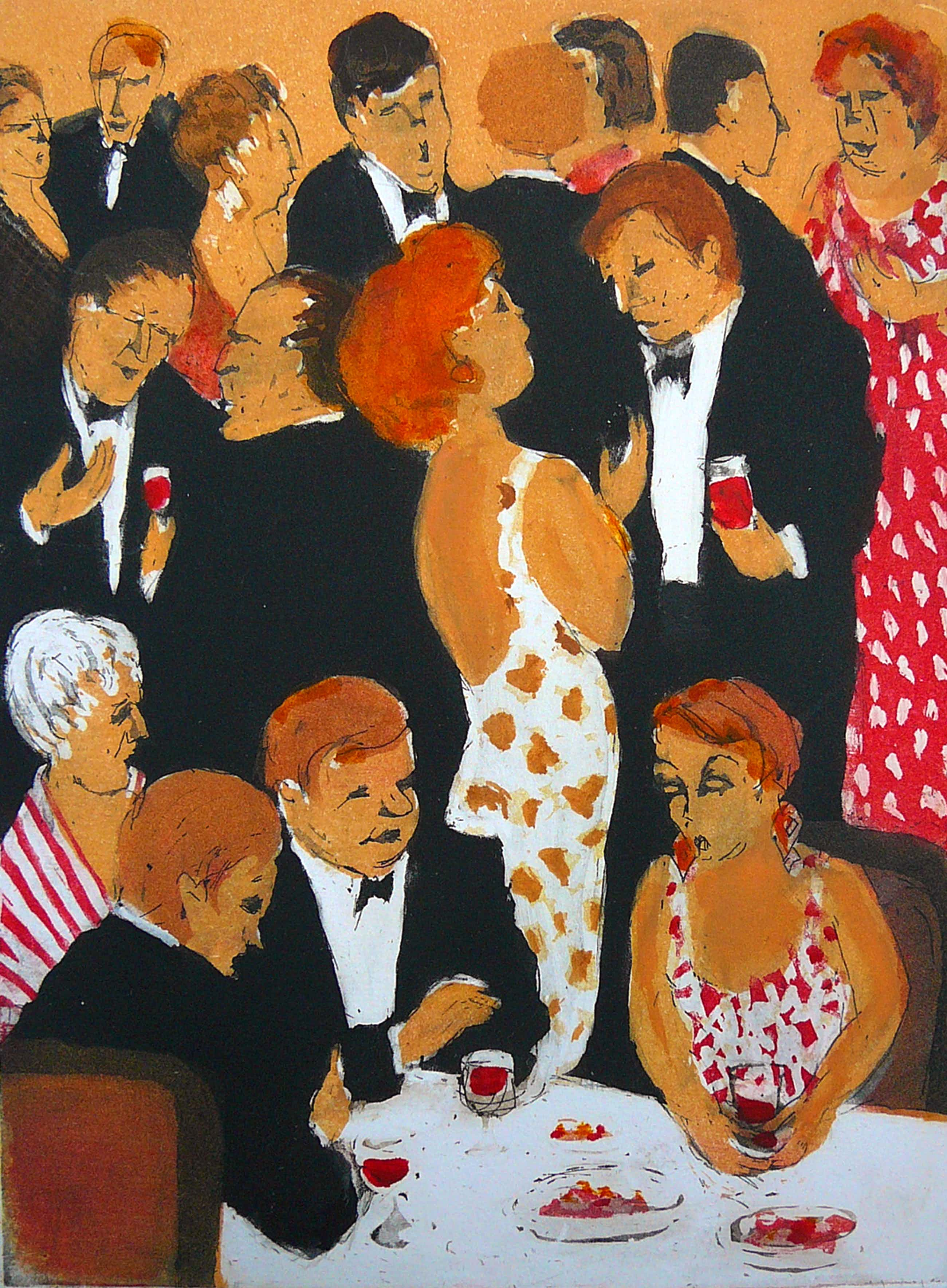 Willy Belinfante - 'December' -gekleurde ets- kopen? Bied vanaf 65!