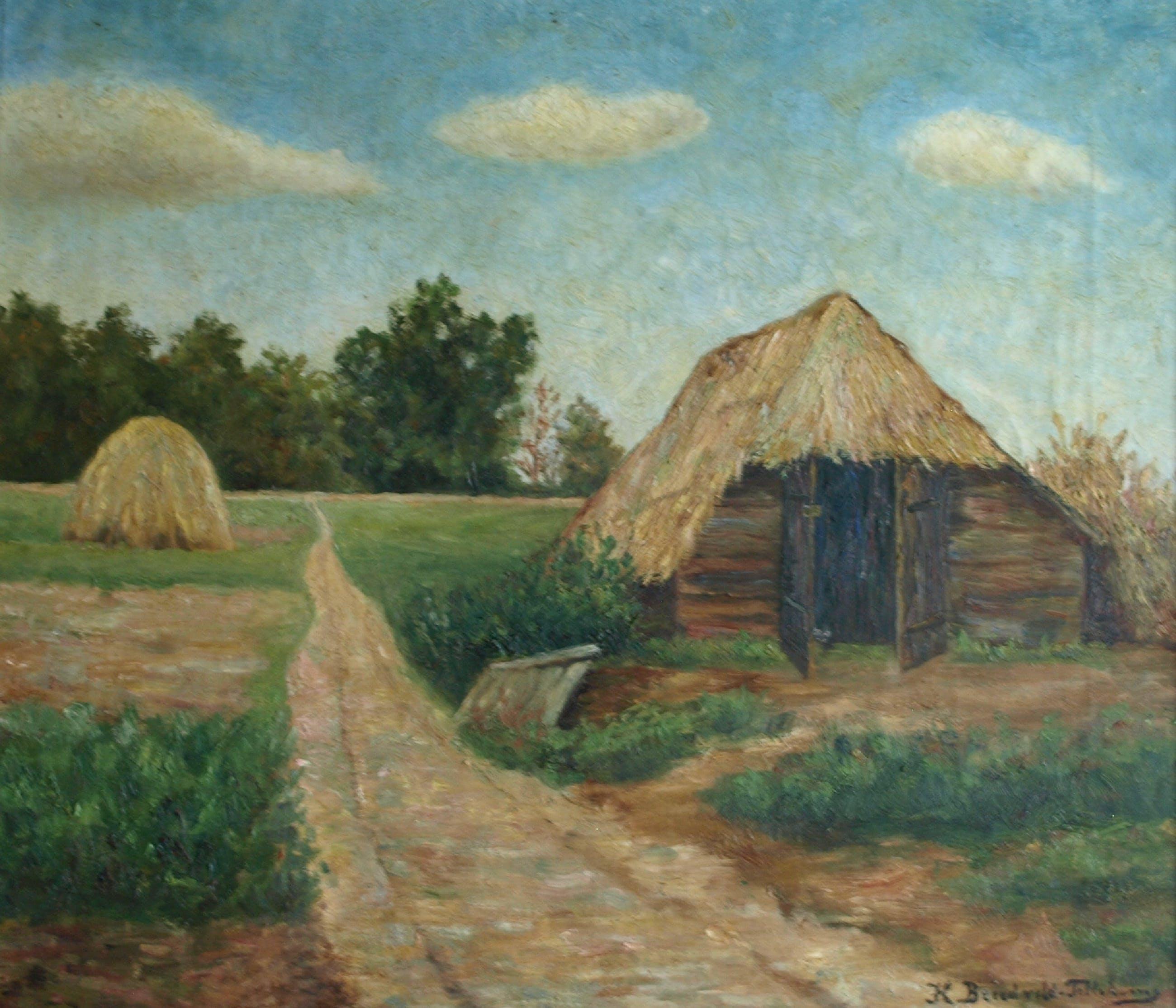Henriette Breedveld - Olieverf op doek in originele lijst , Schaapskooi te Oosterbeek - ca. 1915 kopen? Bied vanaf 1!