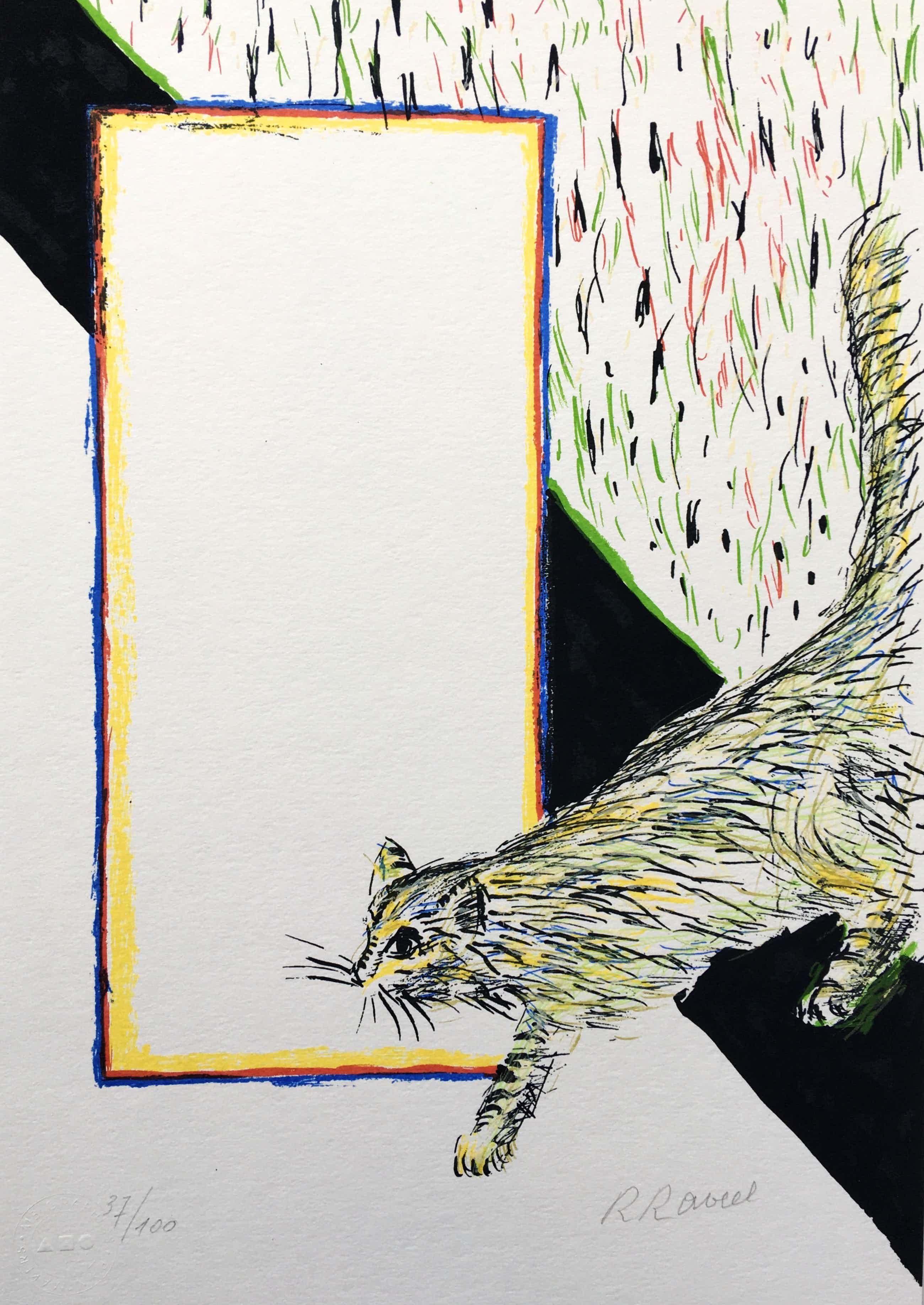 Roger Raveel - zeefdruk 'Felix Vulgaris' - 2010 - oplage 100 kopen? Bied vanaf 575!