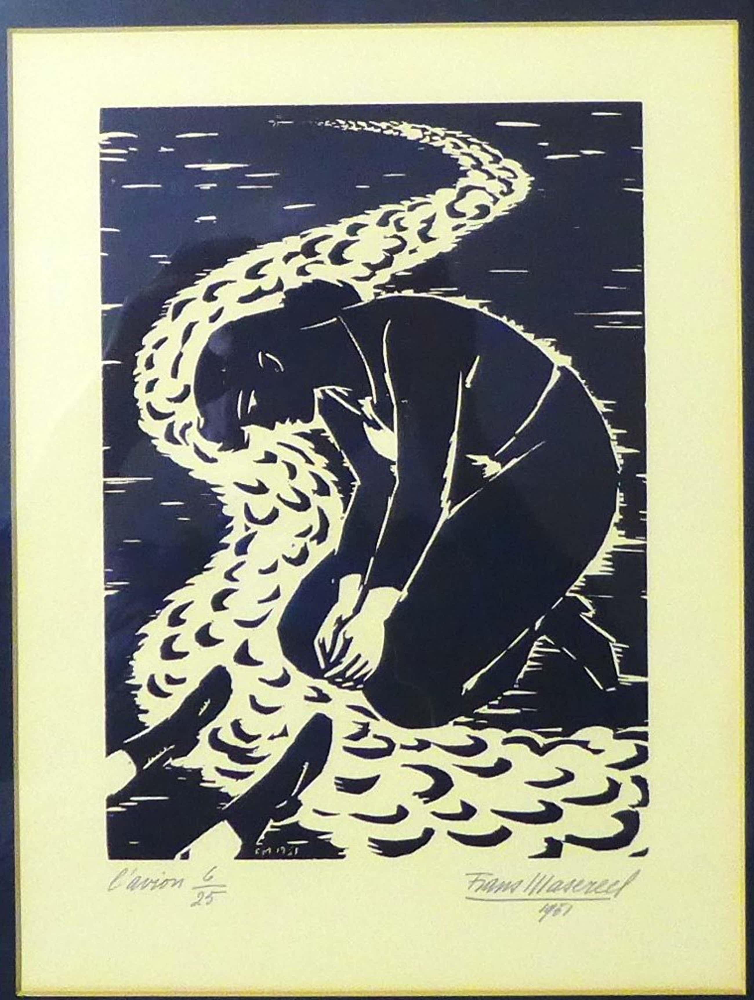 Frans Masereel - Linosnede uit 1951 kleine oplage 6/25 kopen? Bied vanaf 300!