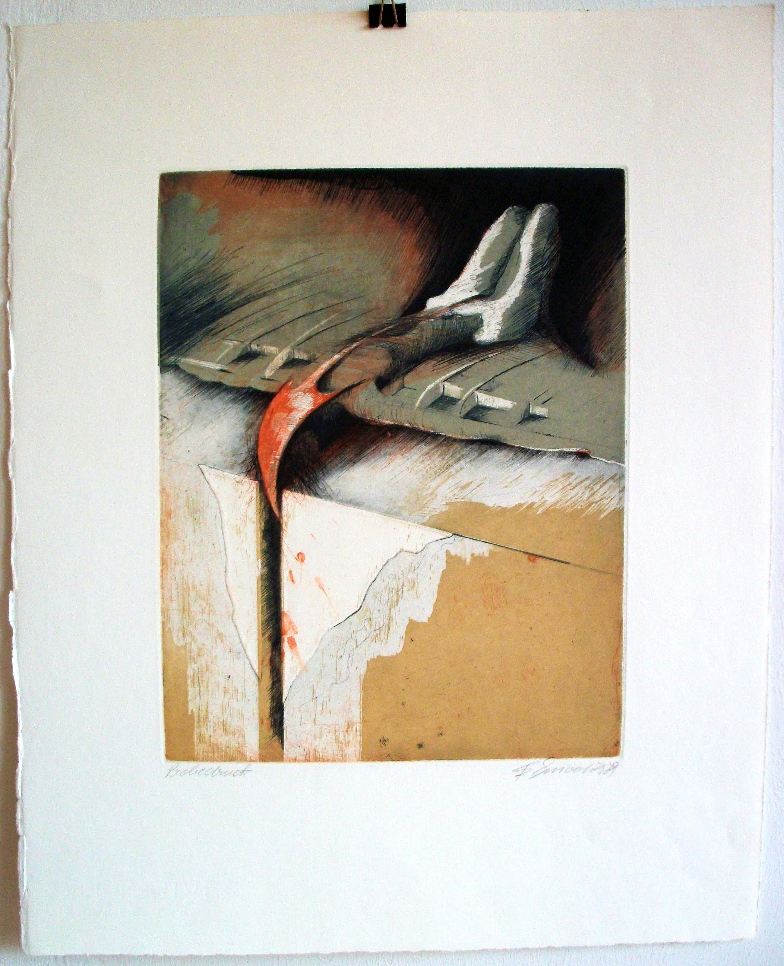 Erich Smodics - Surrealer Akt, 1979 kopen? Bied vanaf 180!