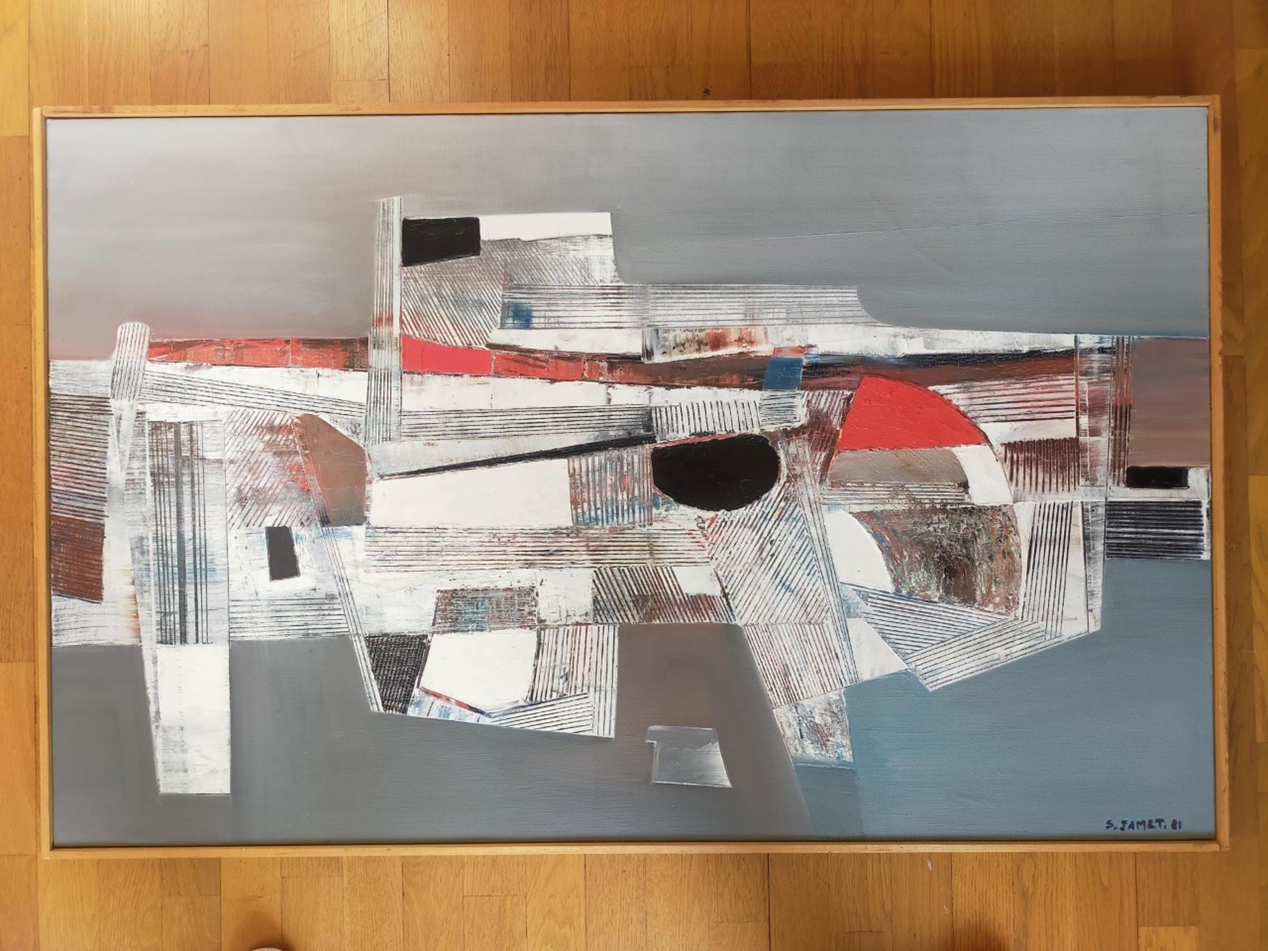 Serge Jamet - Abstracte figuur - bijzonder werk .. kopen? Bied vanaf 250!