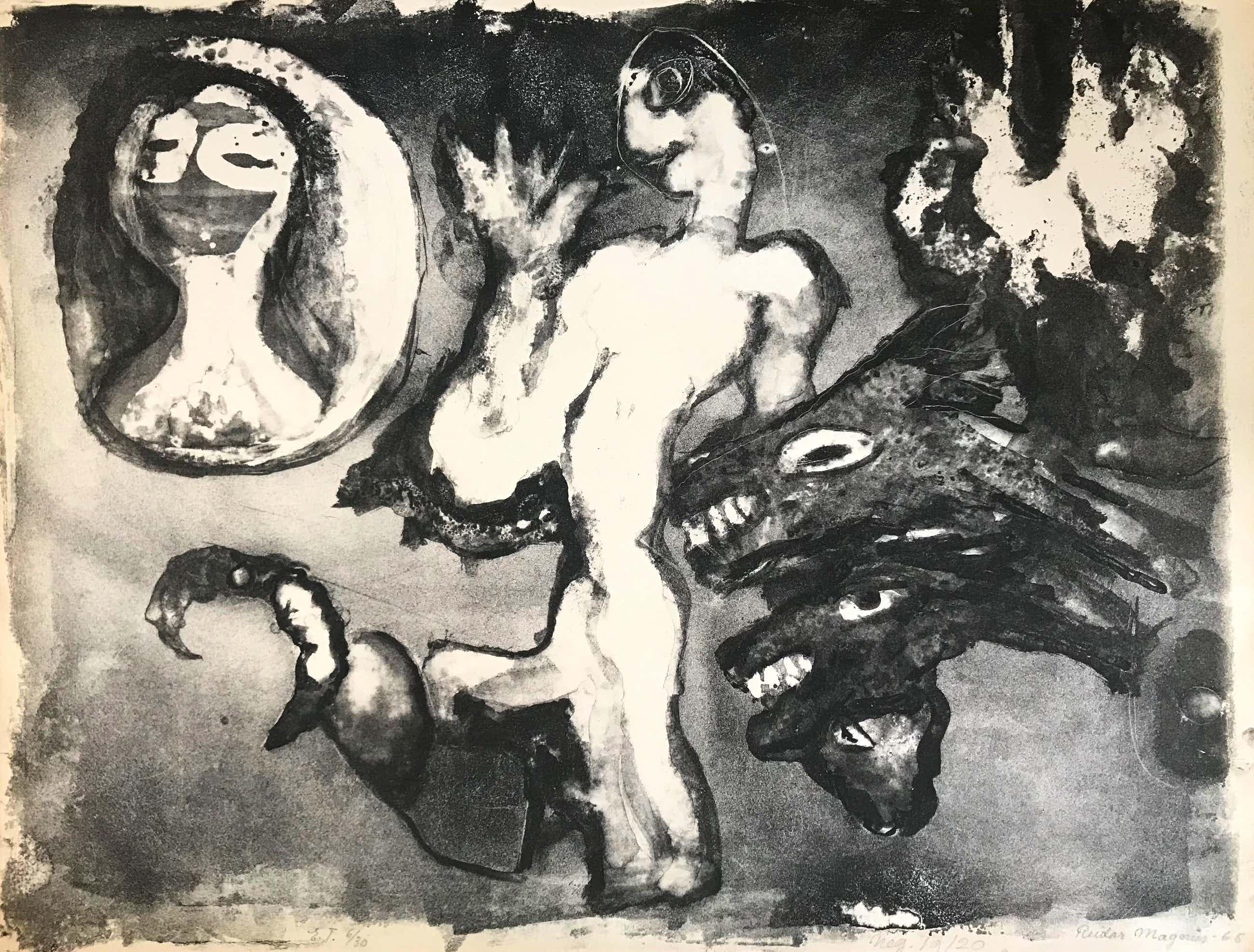 Reidar Magnus - Lithografie - 1965 - 6/30 - Gesigneerd kopen? Bied vanaf 75!
