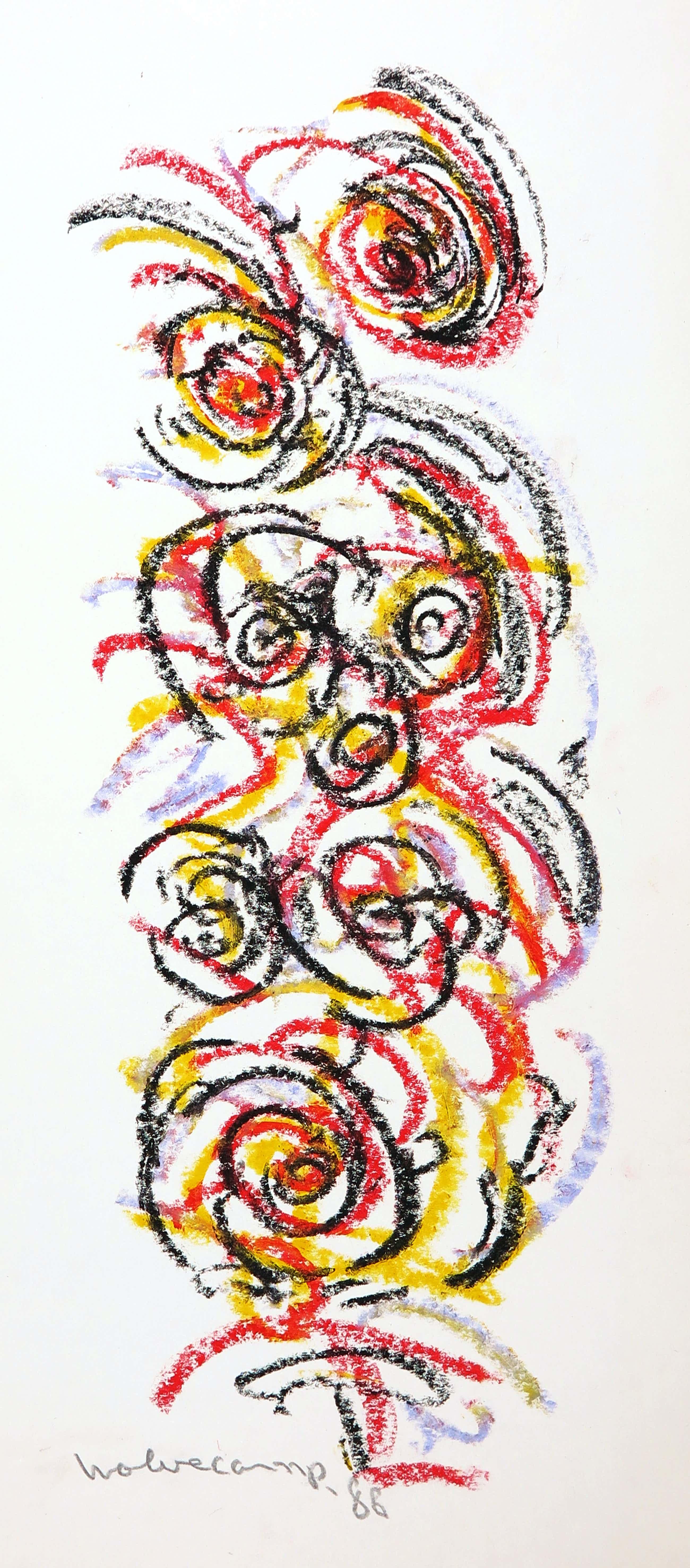 Theo Wolvecamp - Pastelkrijt, Abstracte compositie kopen? Bied vanaf 541!