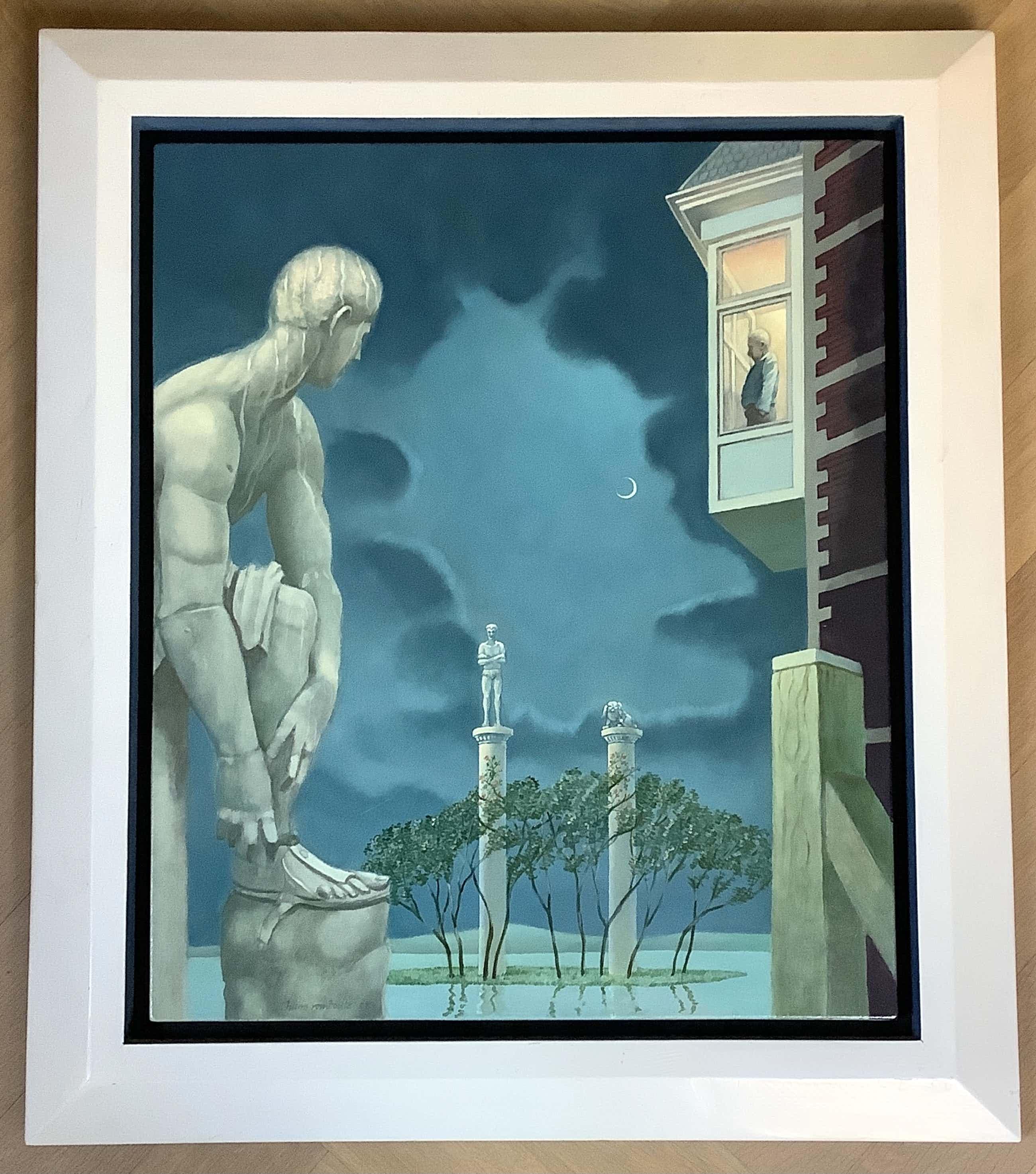 """Hans Rombouts - """"Starend naar de beelden """". Magisch Realistisch kopen? Bied vanaf 300!"""