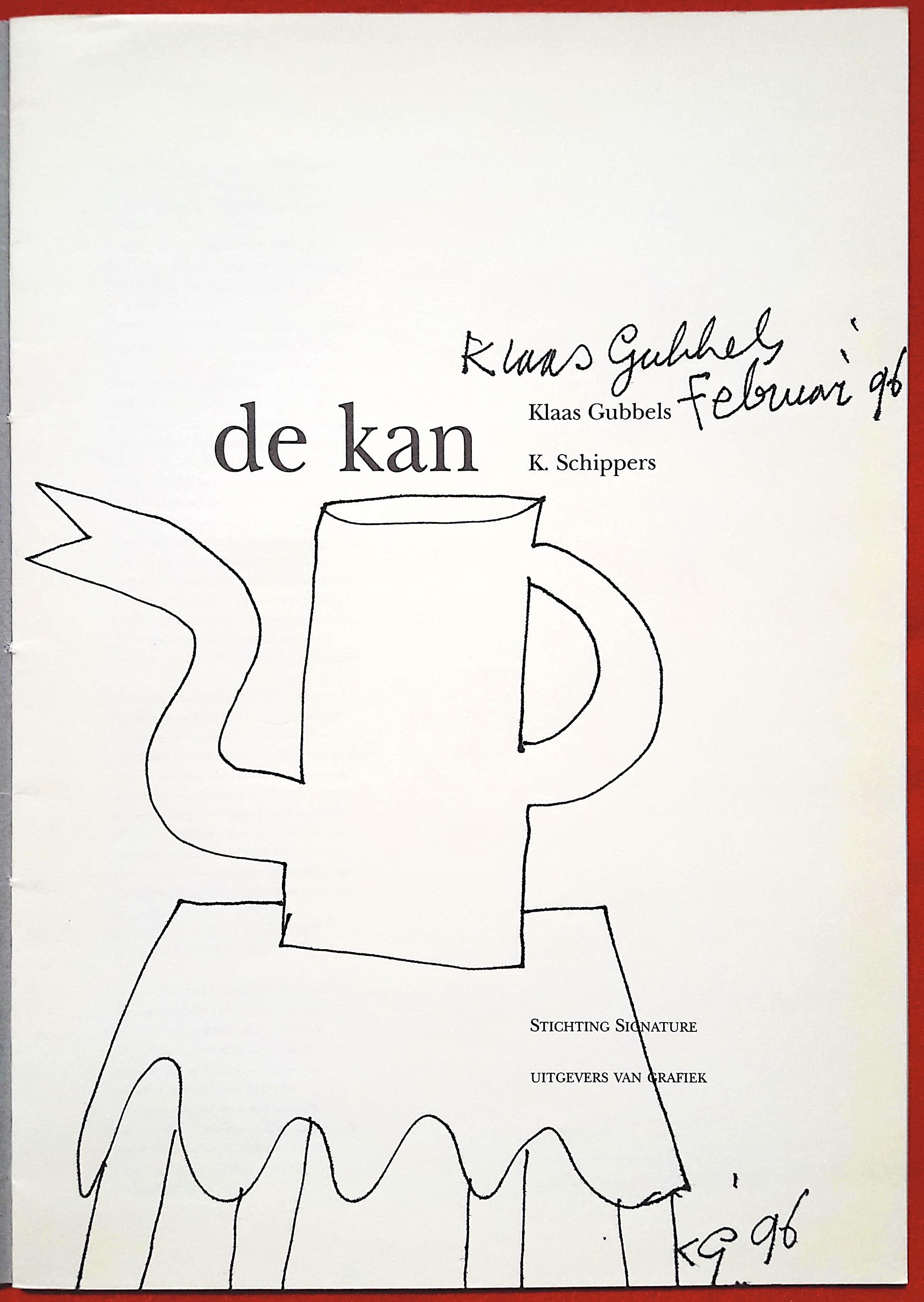 Klaas Gubbels - Signature no. 7, publicatie met originele tekening kopen? Bied vanaf 100!