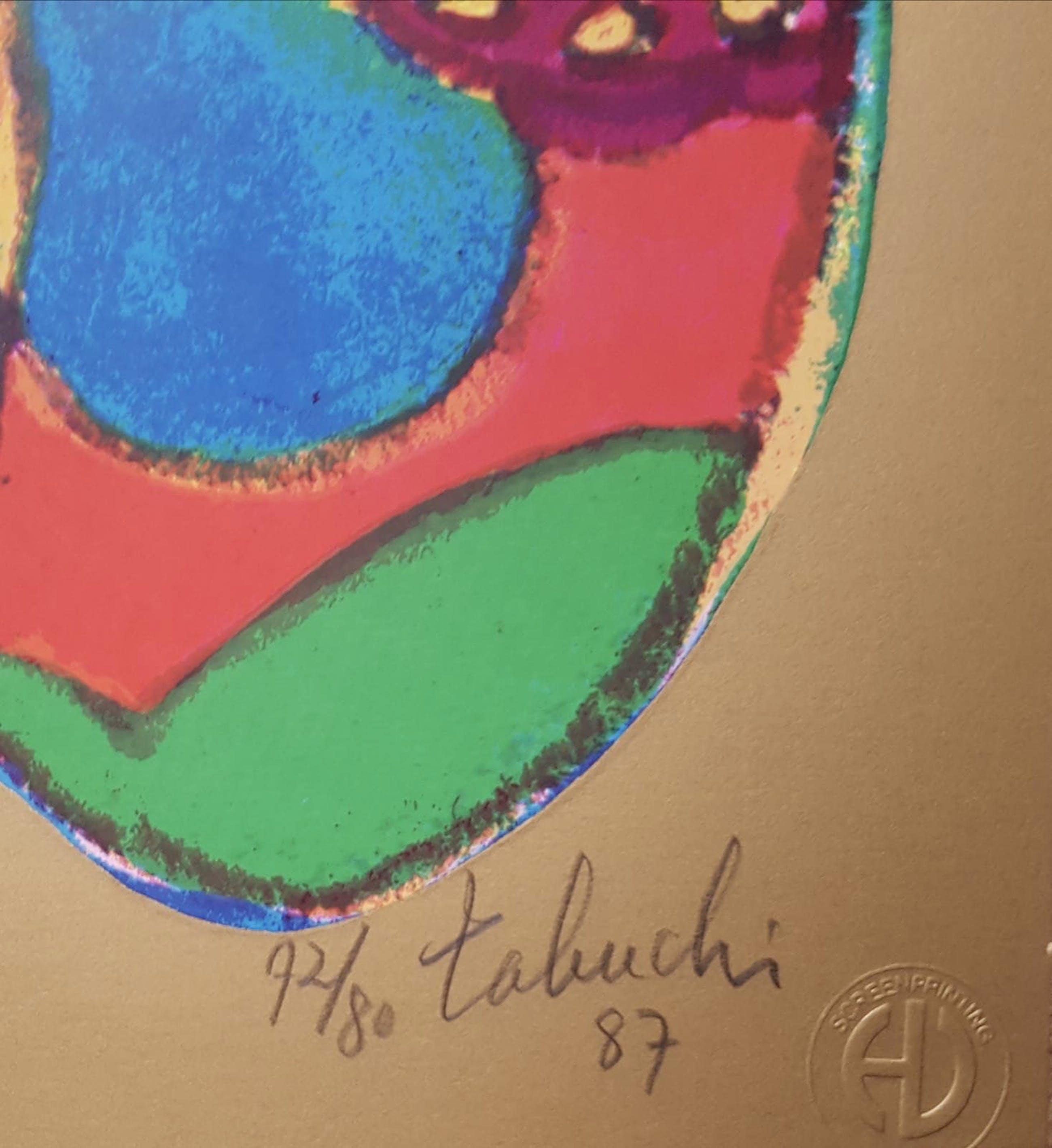 Yasse Tabuchi - Yasse Tabuchi - (1921-2009) 3 x handgesigneerde,genummerde & gedateerde kleurenl kopen? Bied vanaf 30!