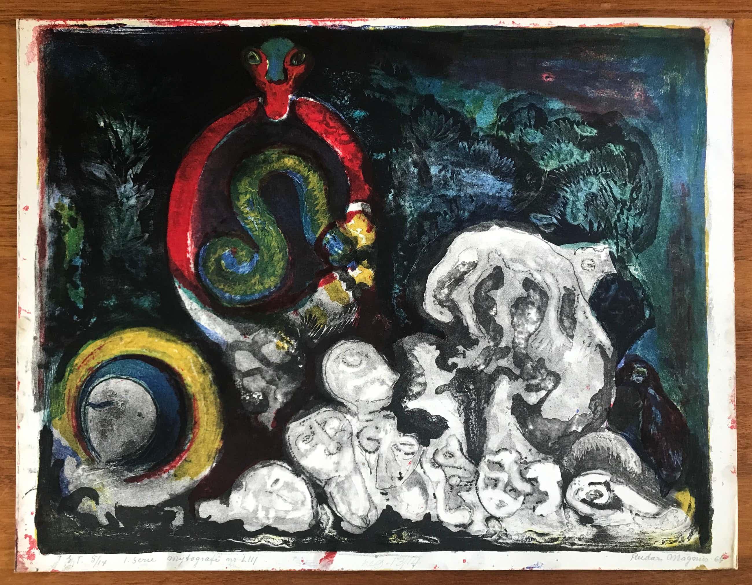 Reidar Magnus - Prachtige kleurenlitho - 5/14 - Gesigneerd - 1967 kopen? Bied vanaf 75!