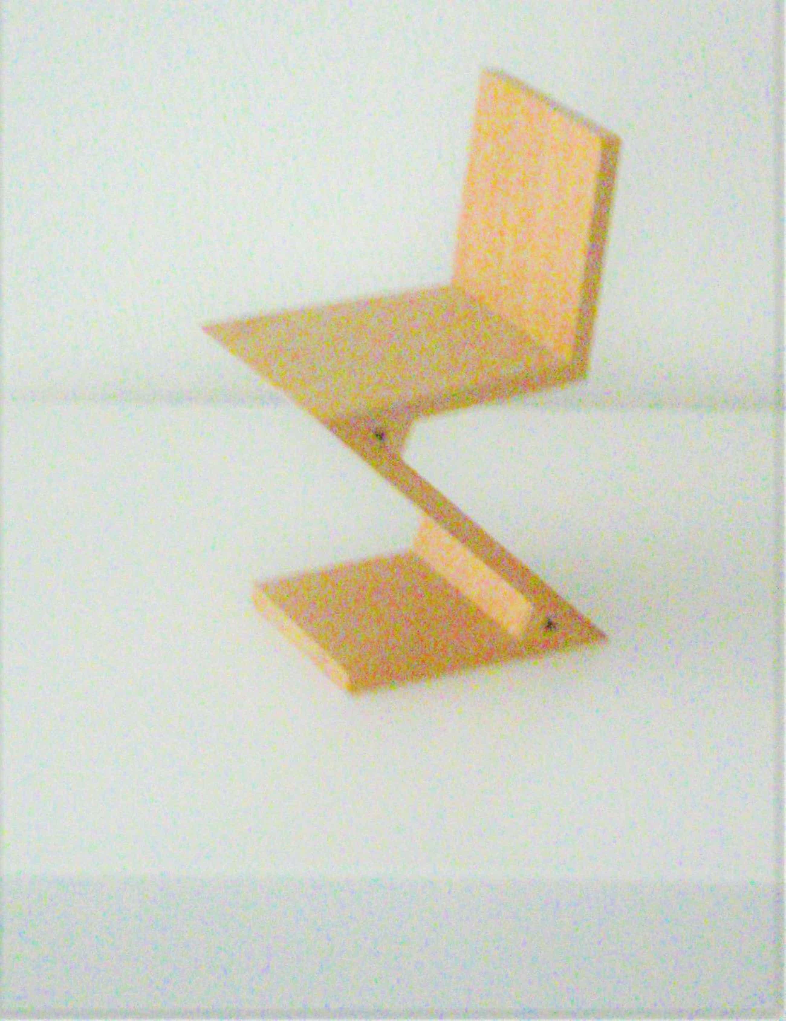 Gerrit Rietveld Miniatuur Zig Zag stoel kopen? Bied vanaf 25!