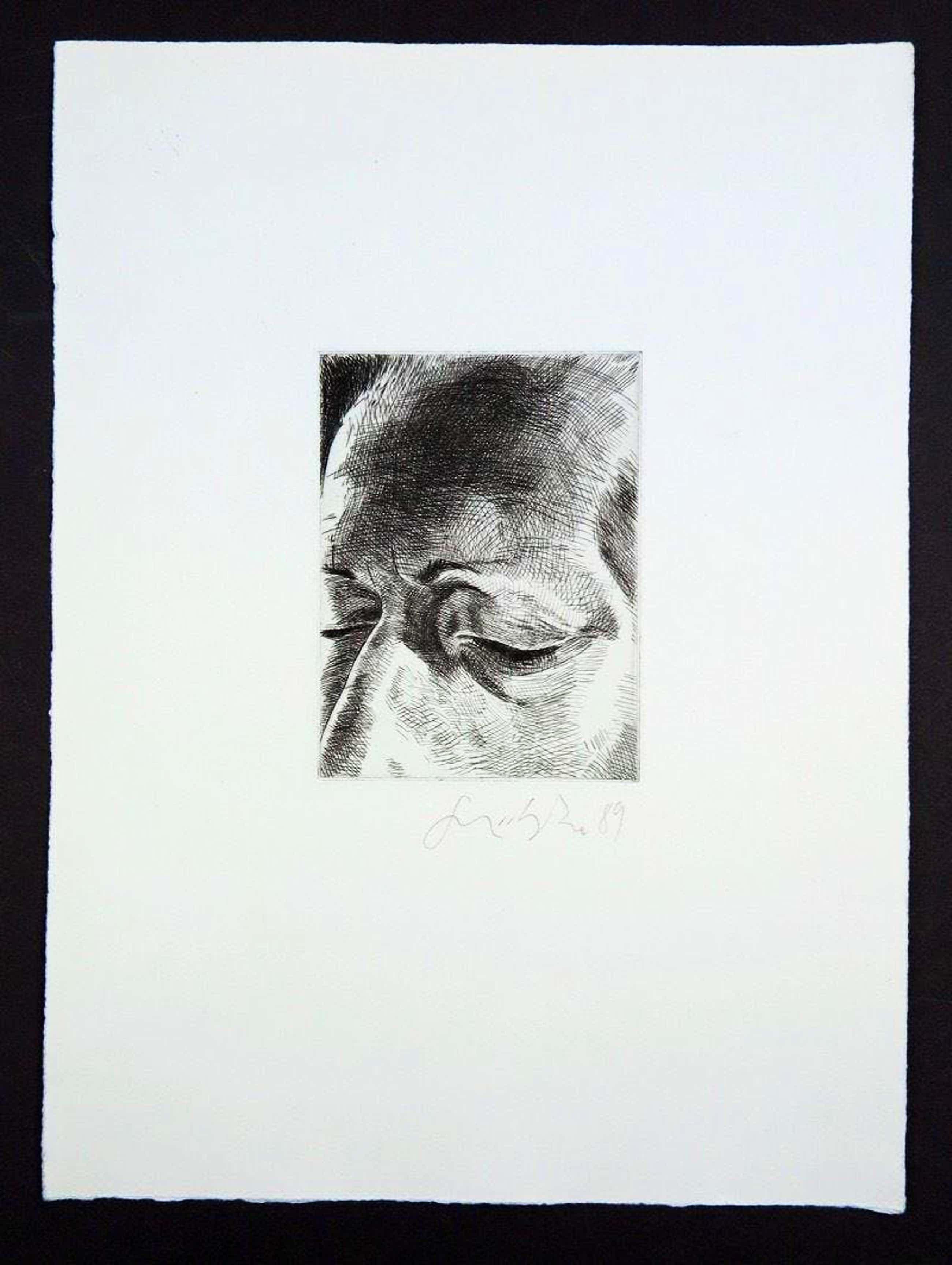 """Johannes Grützke - """"Vom Gesicht"""" -6 Radierungen 1989,handsigniert, Griffelkunst kopen? Bied vanaf 550!"""