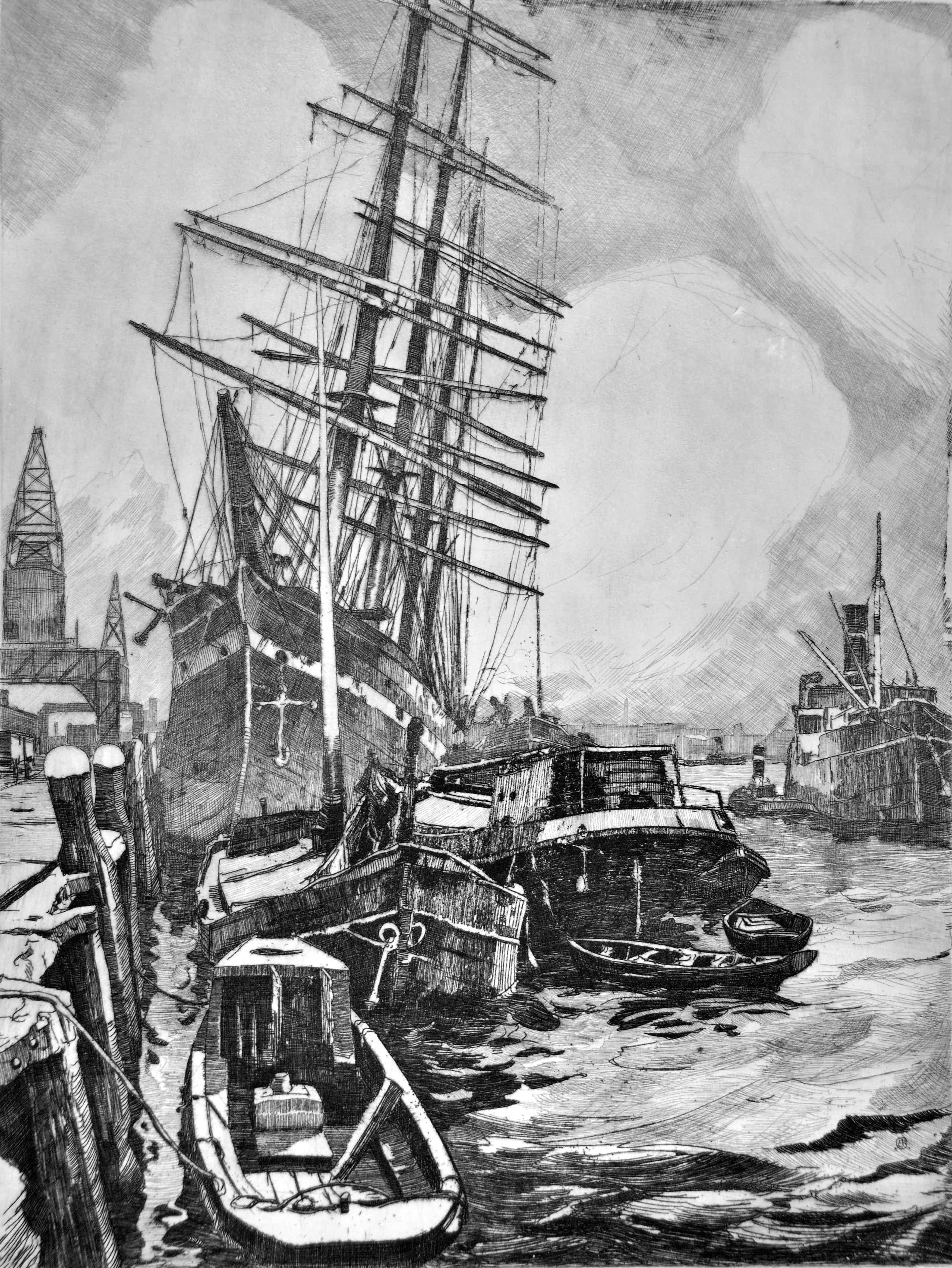 Jan Sirks - Rotterdam 1921; Katendrechtse haven kopen? Bied vanaf 75!