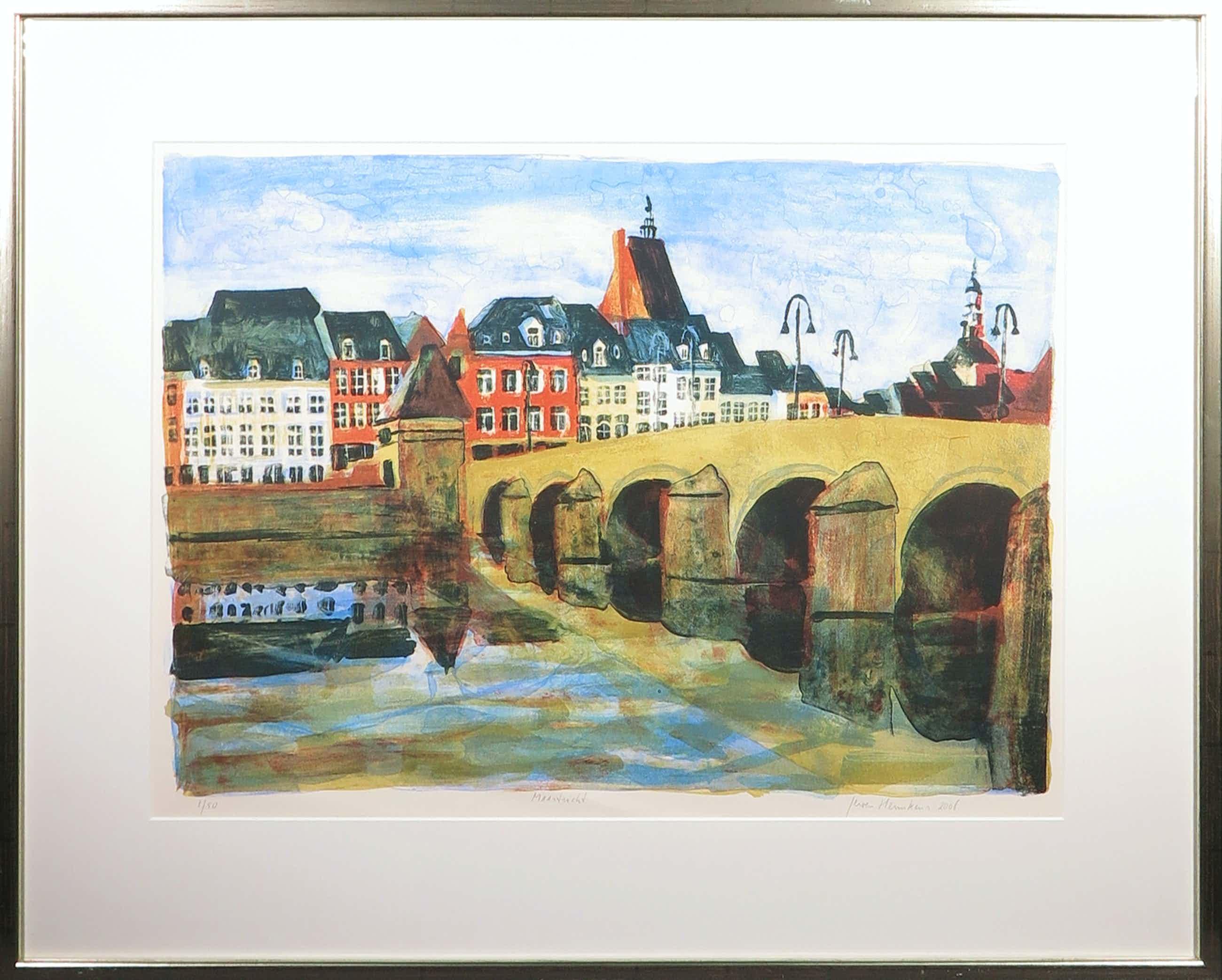 Jeroen Hermkens - Litho, Maastricht - Ingelijst kopen? Bied vanaf 130!