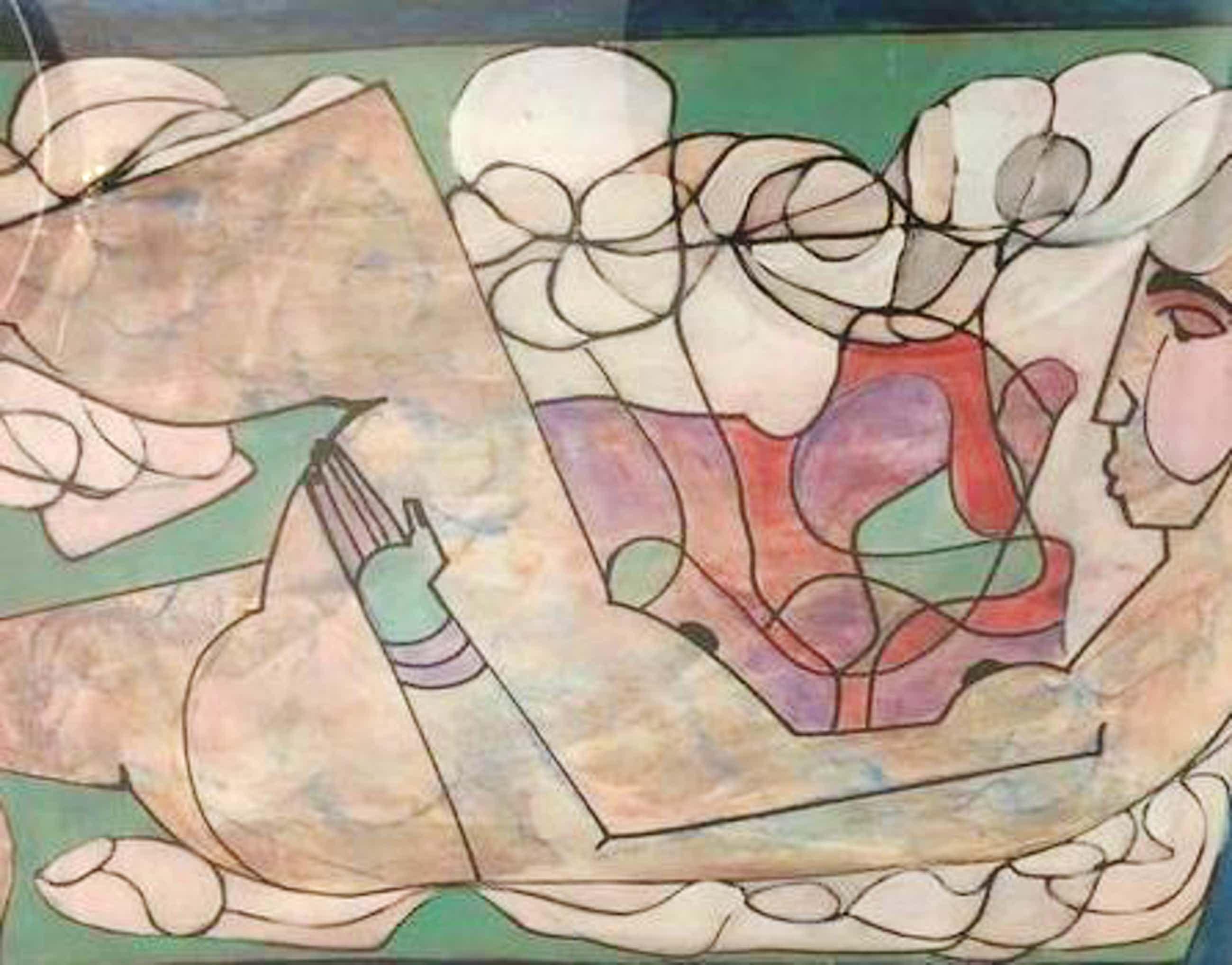 Theo Mackaay - schilderij op papier, gesigneerd en gedateerd kopen? Bied vanaf 300!