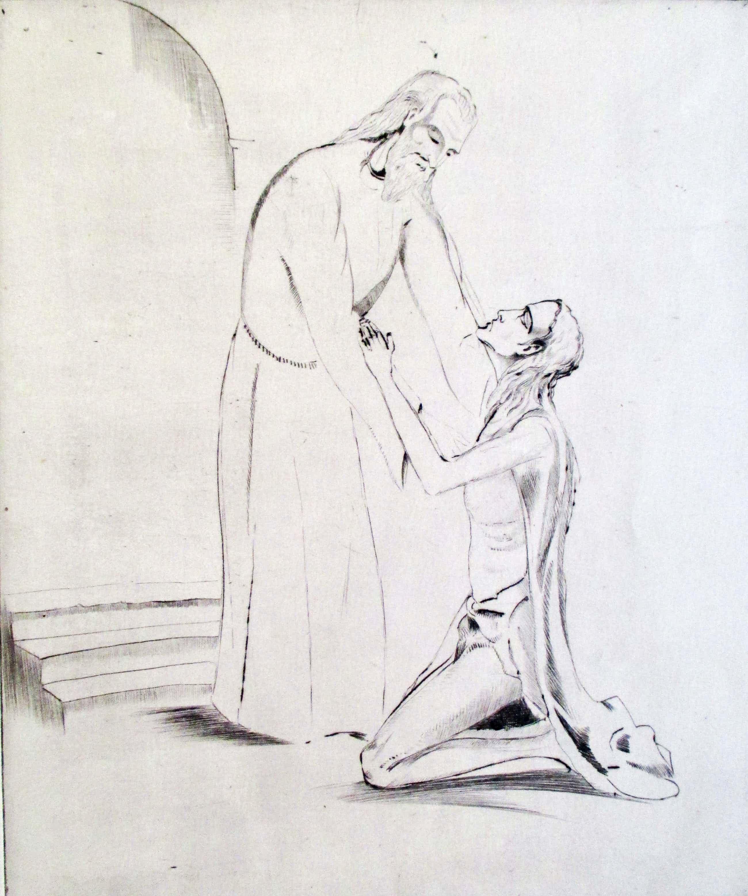 "Lodewijk Schelfhout - Gravure L'enfant prodigue"" kopen? Bied vanaf 35!"
