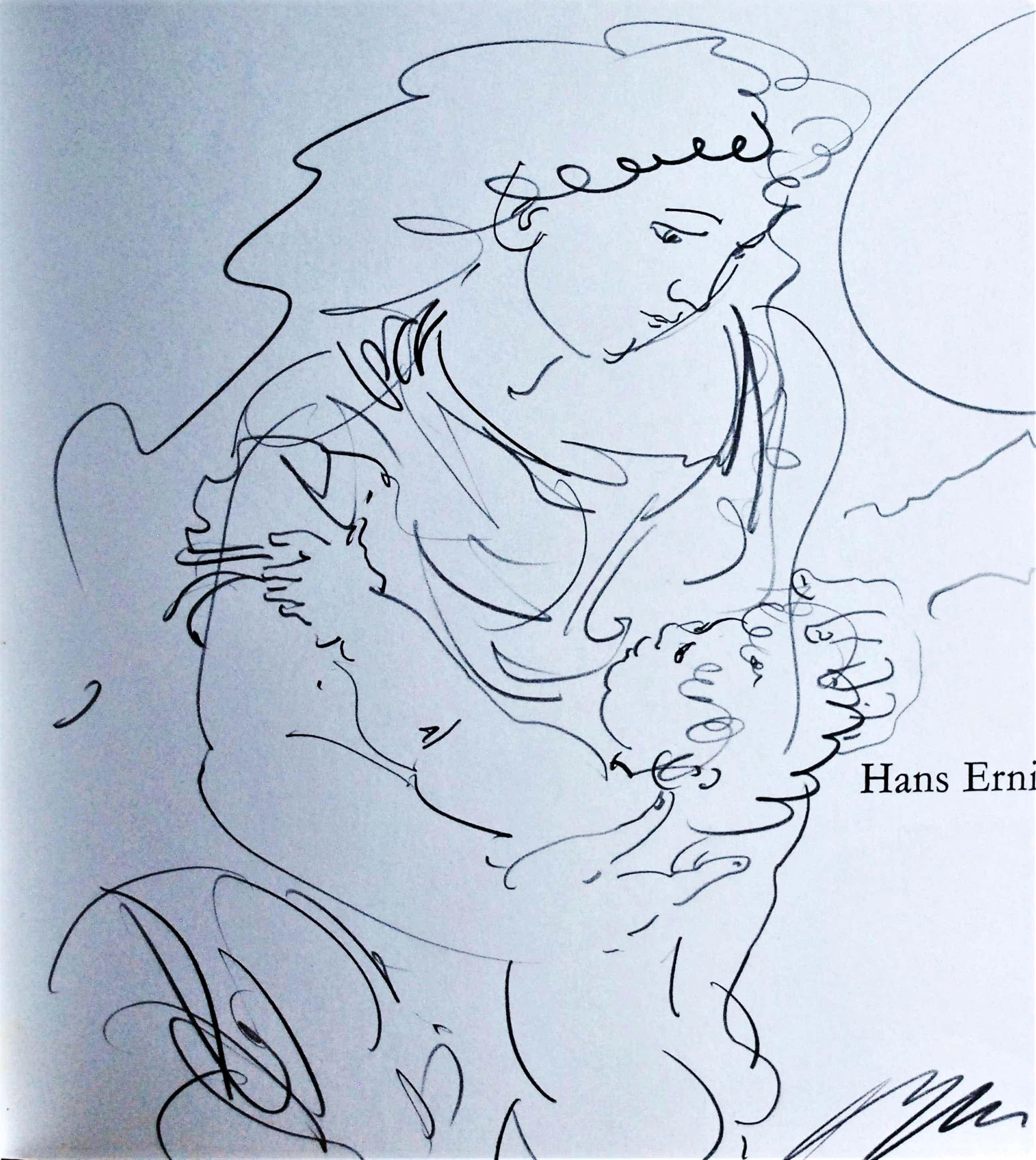 Hans Erni - Grote gesigneerde en beschreven tekening in het boek Israel - 1971 kopen? Bied vanaf 150!