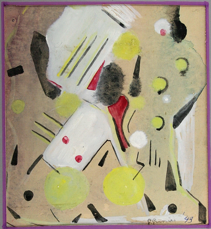 Gerard Grassere - Vroeg abstract werk, 1949 kopen? Bied vanaf 40!