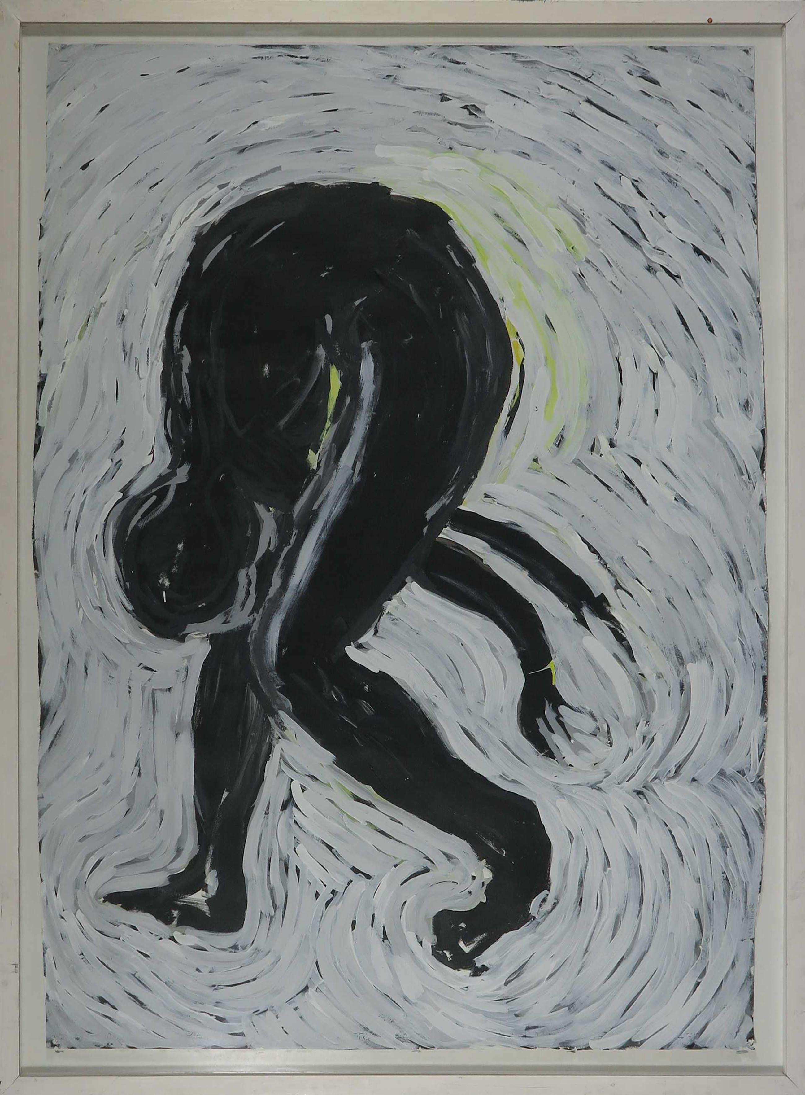 Frans Verschoor - Acryl op papier, Zonder titel II - Ingelijst (Zeer groot) kopen? Bied vanaf 1!