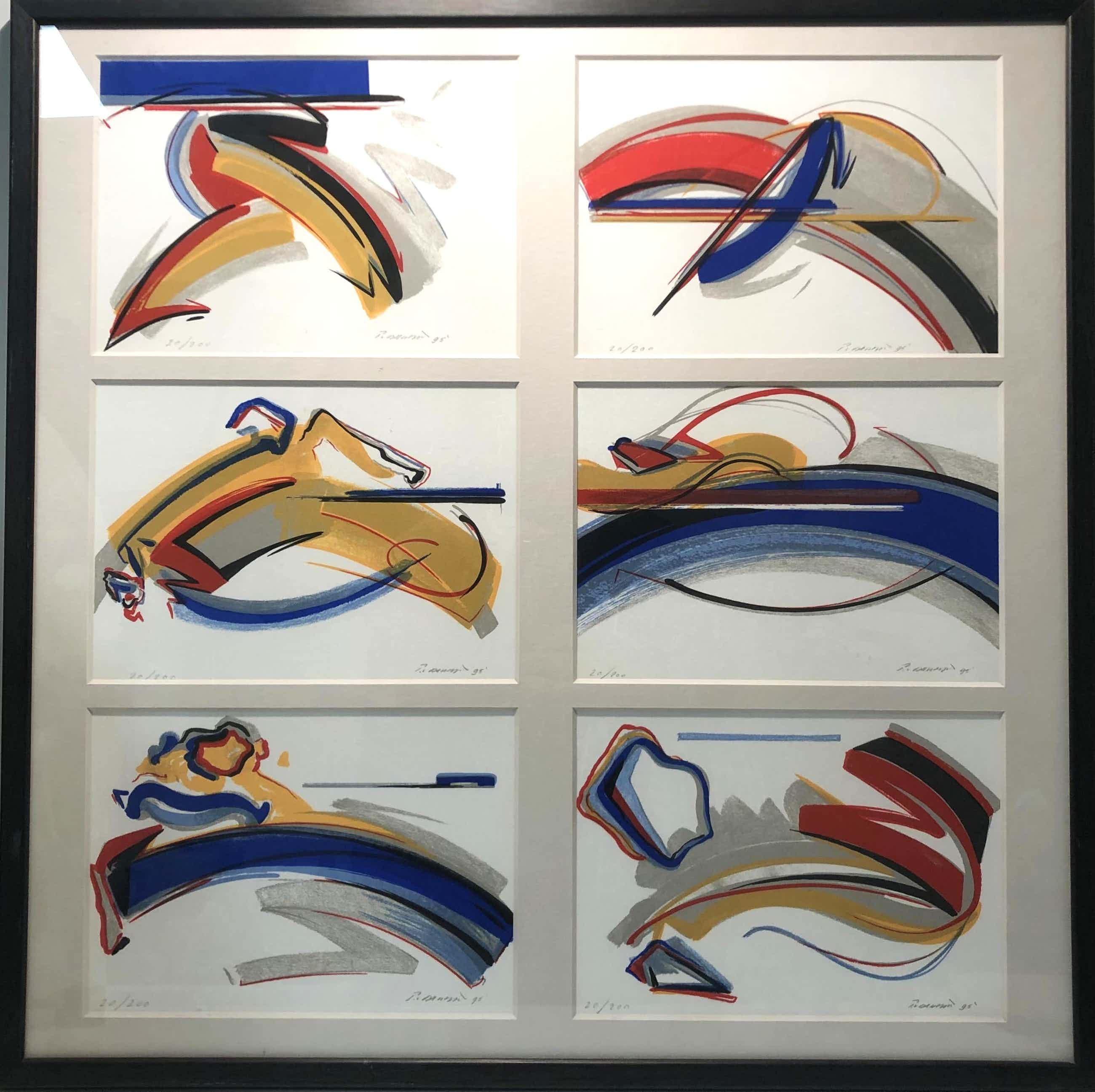 Peter van Drumpt - Abstracte composities kopen? Bied vanaf 80!