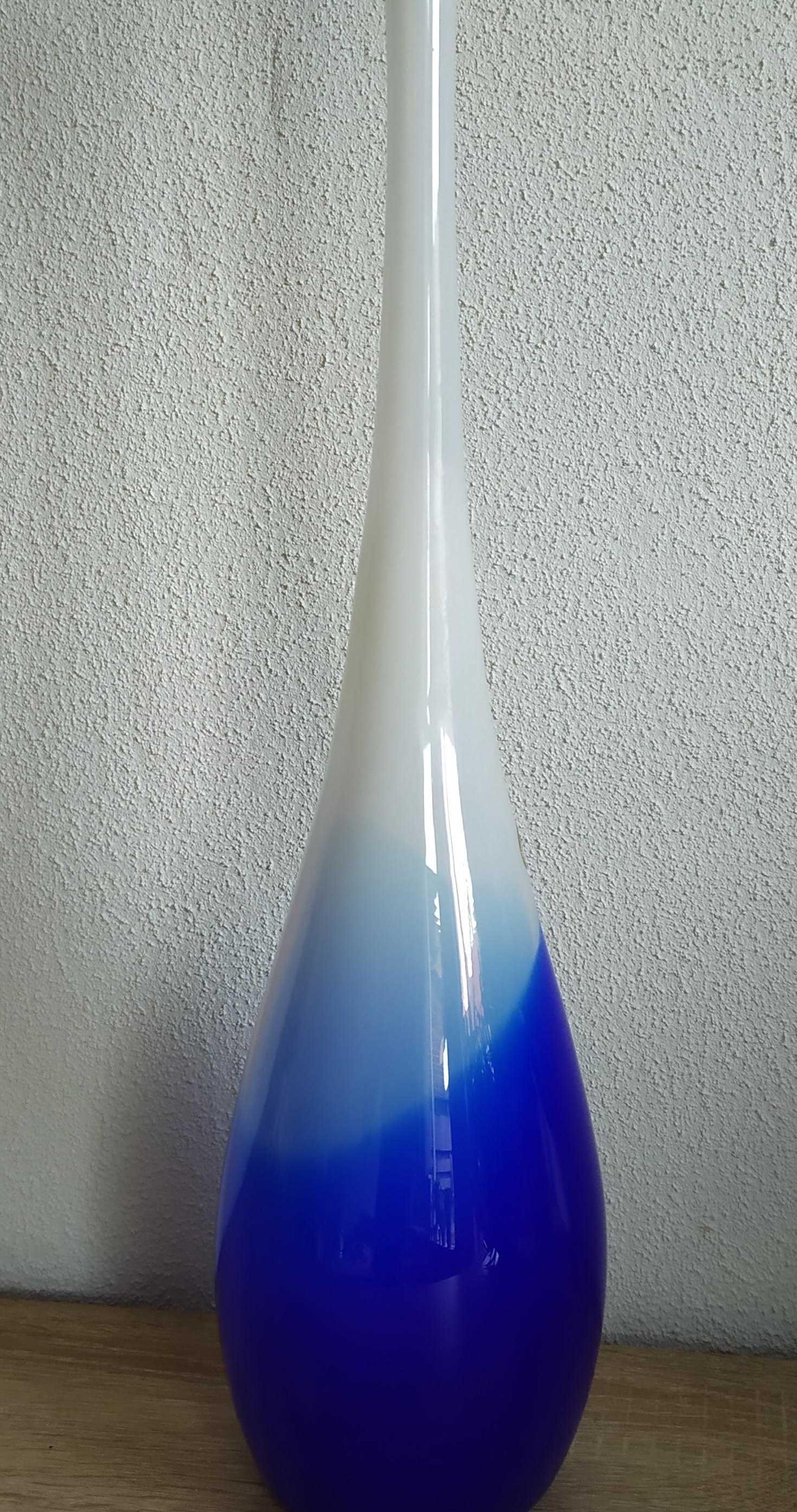 Royal Leerdam - Blauw/wite vaas van Royal Leerdam kopen? Bied vanaf 75!
