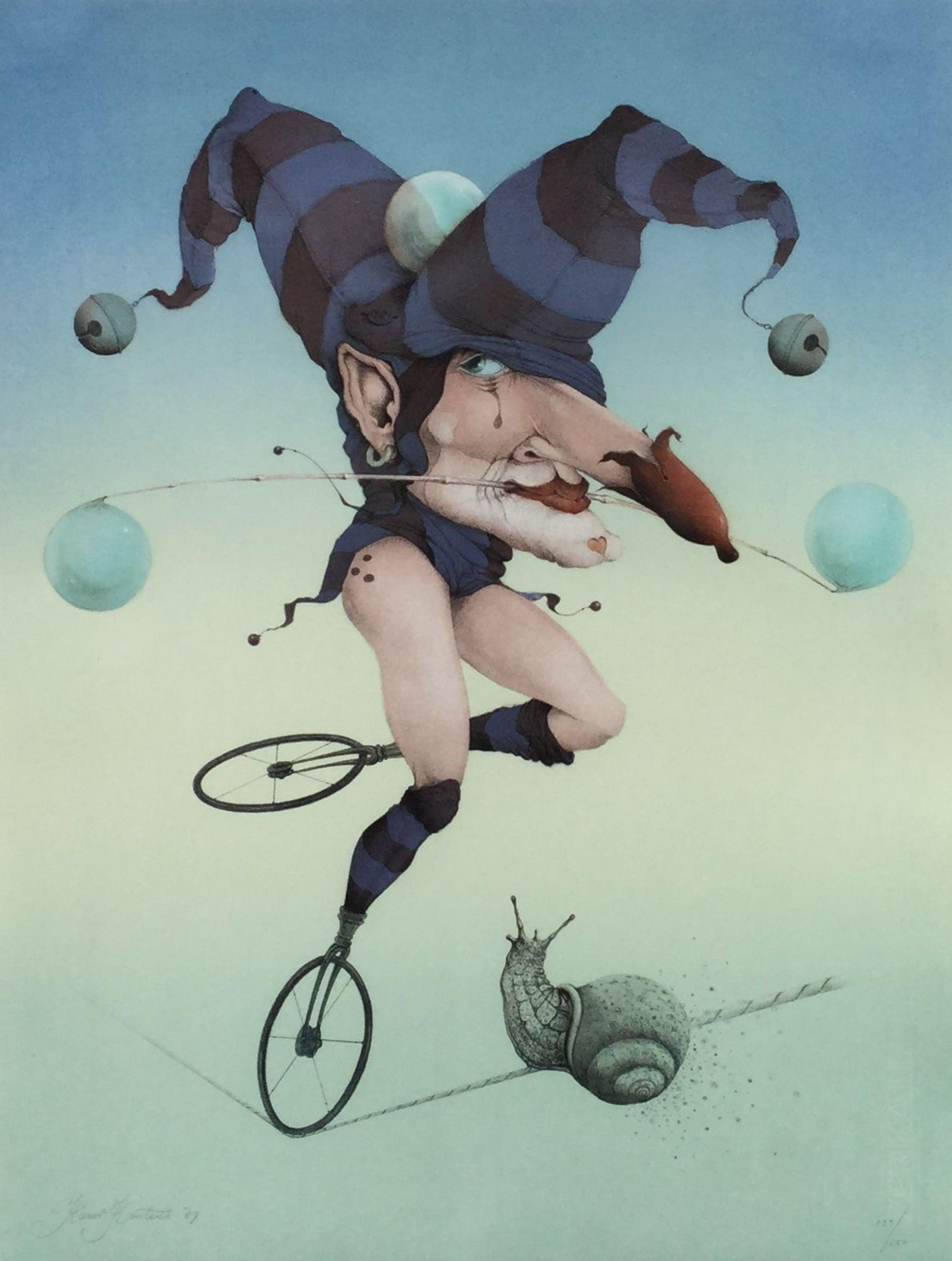 Hans Kanters - C4795, Surrealistische voorstelling met Joker als ballerina kopen? Bied vanaf 350!
