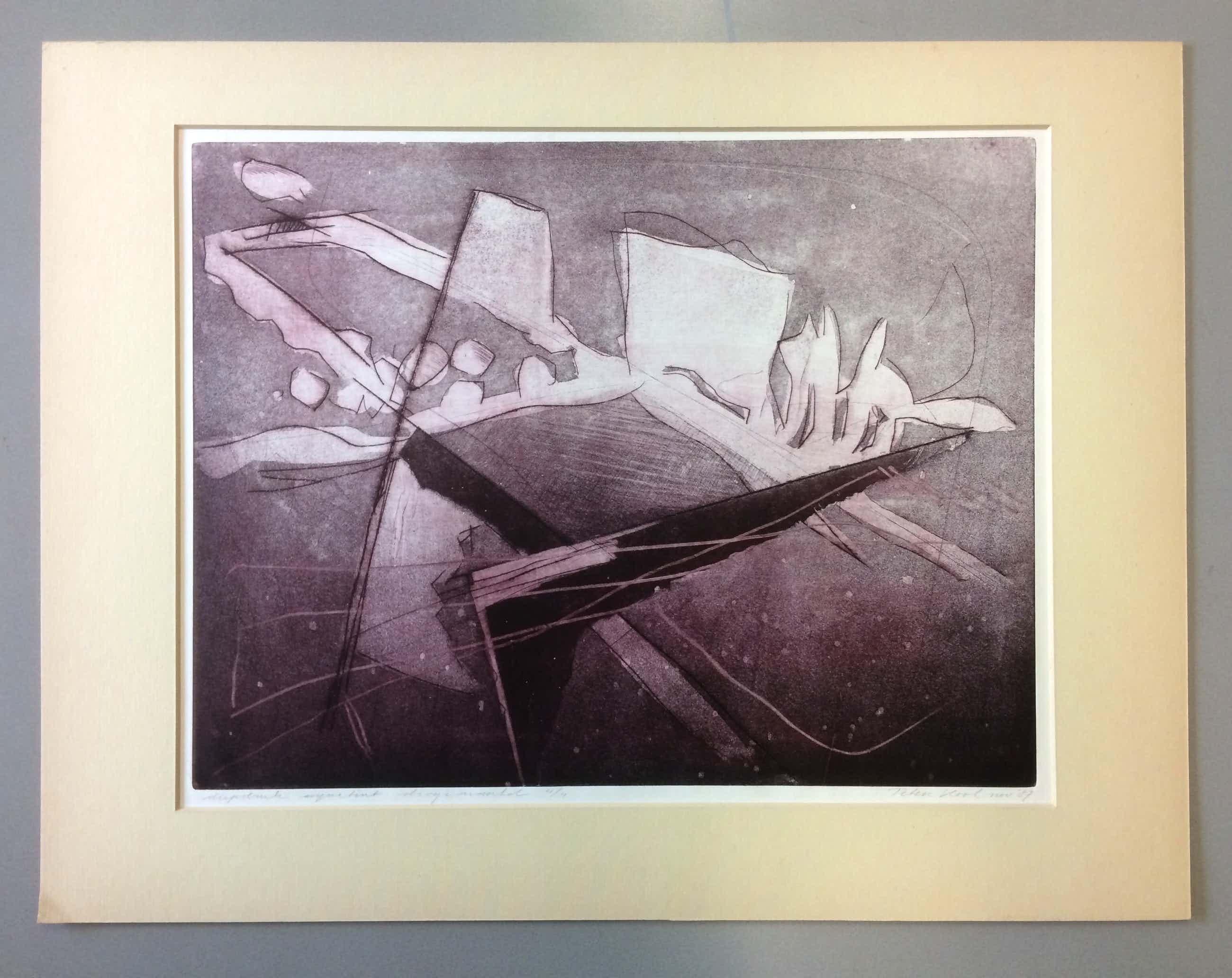 Peter Kool - Abstract Landschap kopen? Bied vanaf 75!