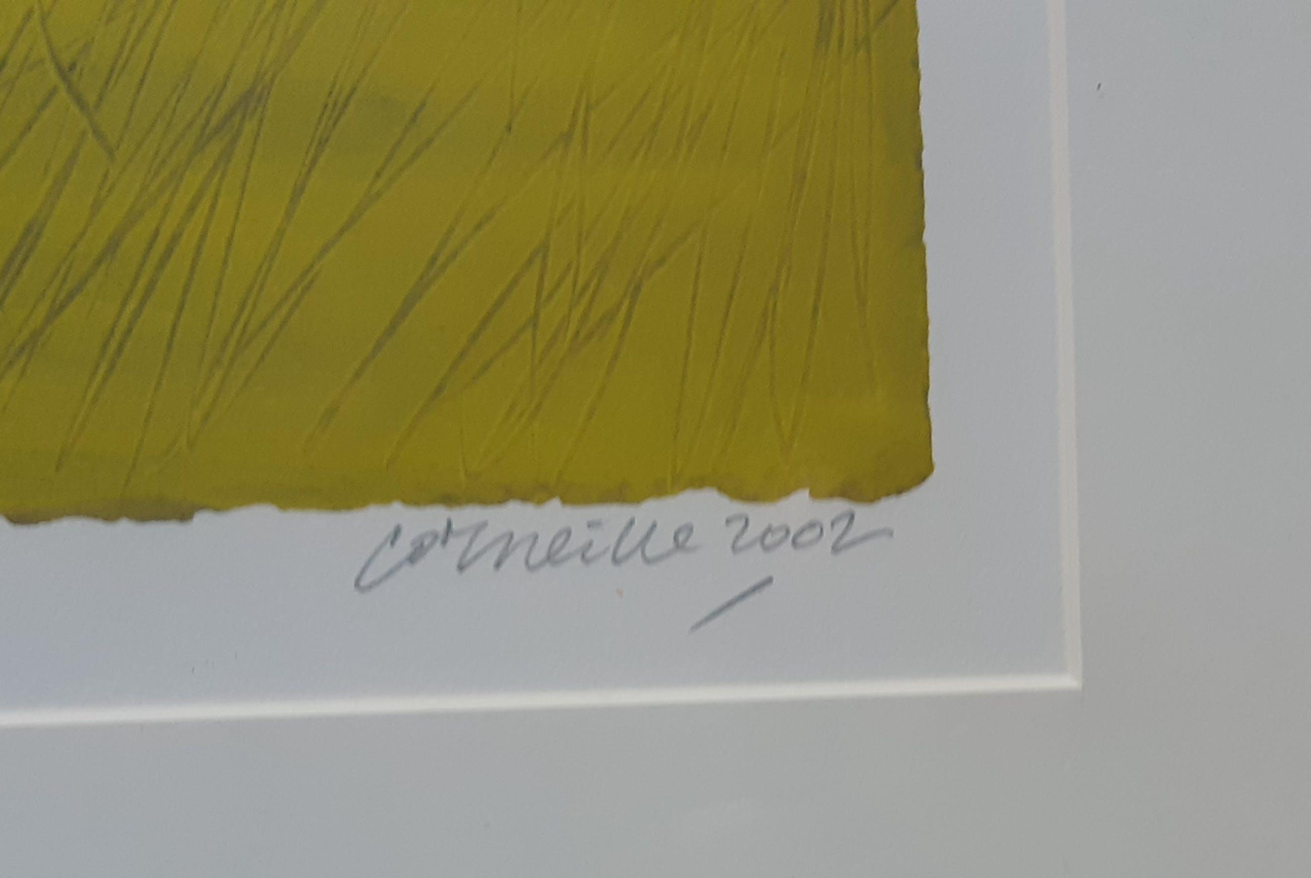 """Corneille - """" Zonder titel """" Zeefdruk uit 2002. kopen? Bied vanaf 210!"""